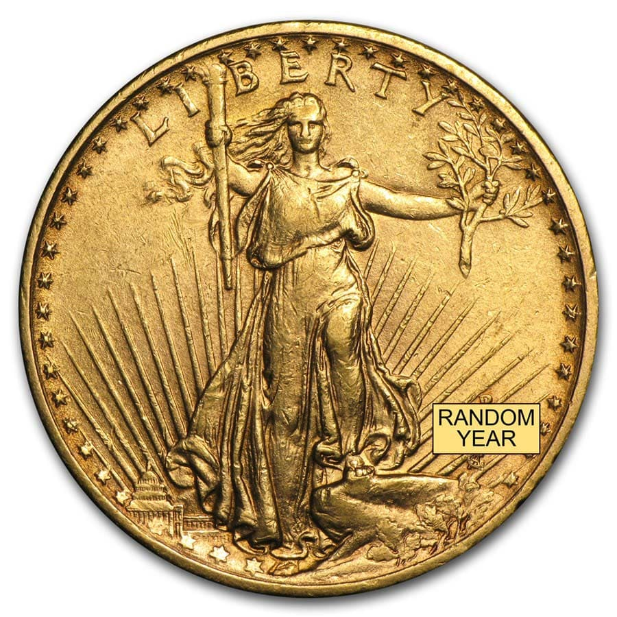 $20 Saint-Gaudens Gold Double Eagle XF (Random Year)