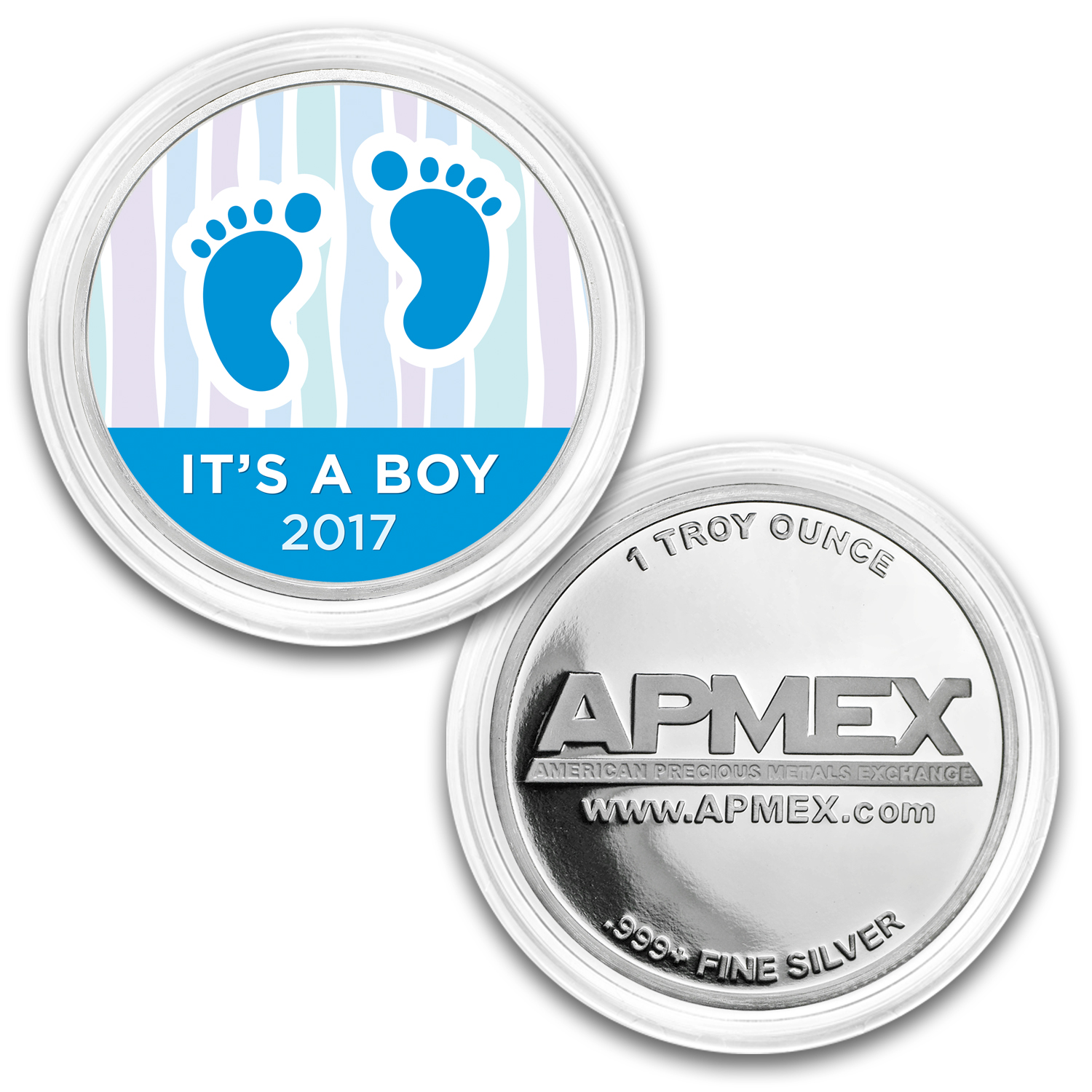 1 oz Silver Colorized Round - APMEX (Baby Steps - 2017)
