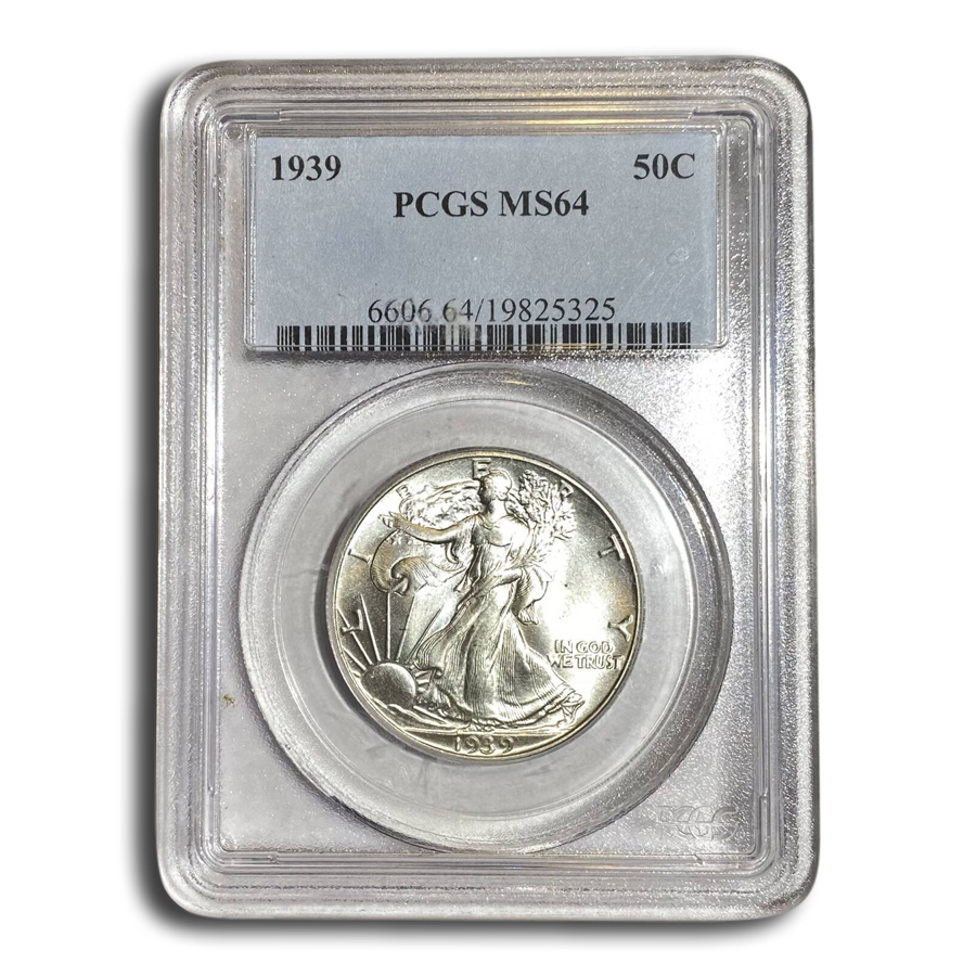 1939 Walking Liberty Half Dollar MS-64 PCGS