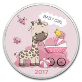 1 oz Silver Colorized Round - APMEX (Baby Girl 2017)