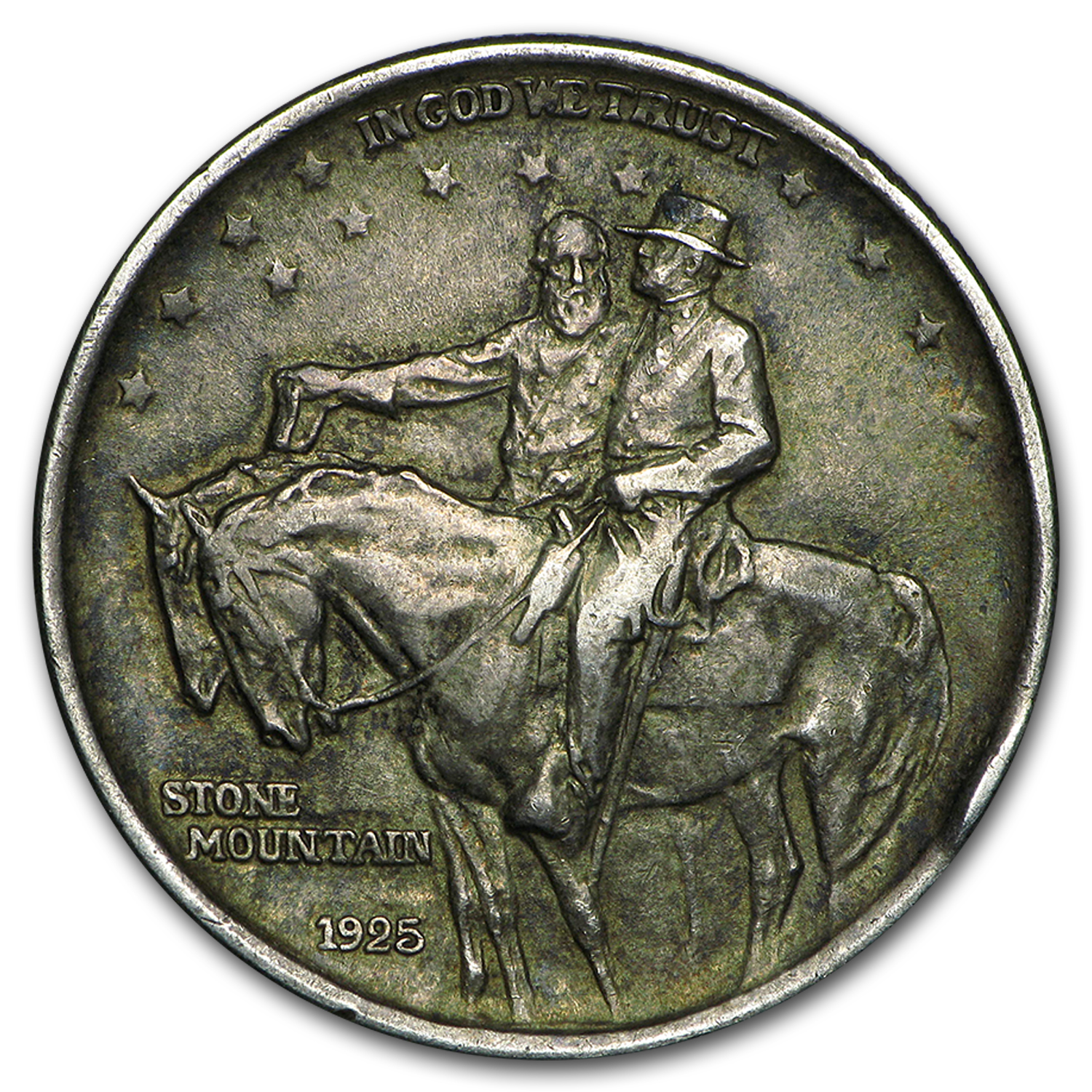 1925 Stone Mountain Memorial Commem Half Avg Circ