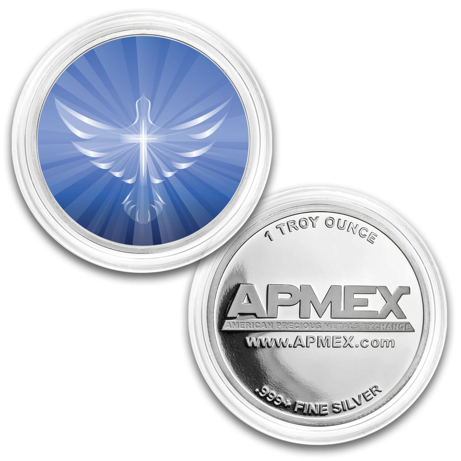 1 oz Silver Colorized Round - APMEX (Morning In the Light)