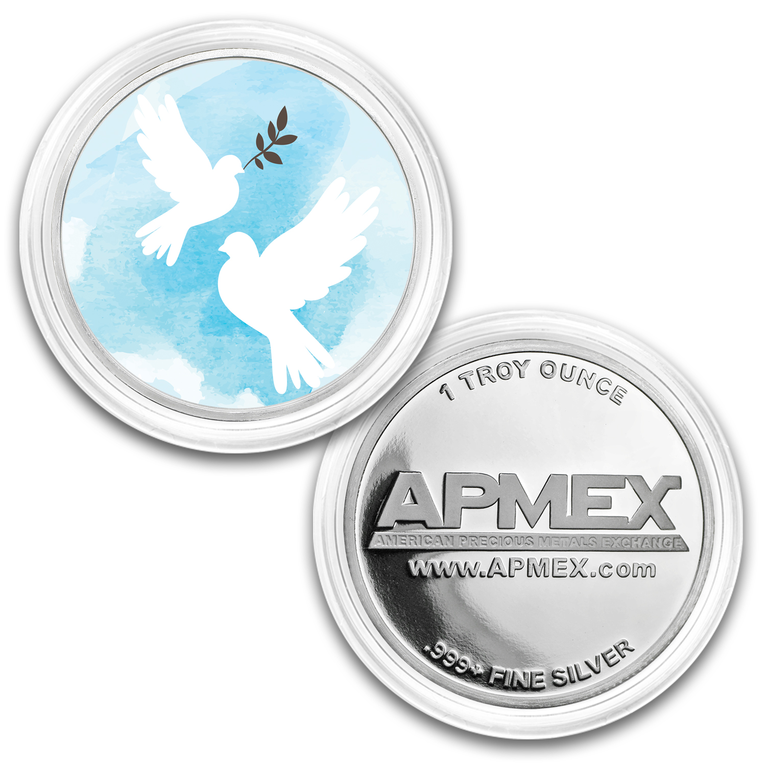 1 oz Silver Colorized Round - APMEX (Making Peace)