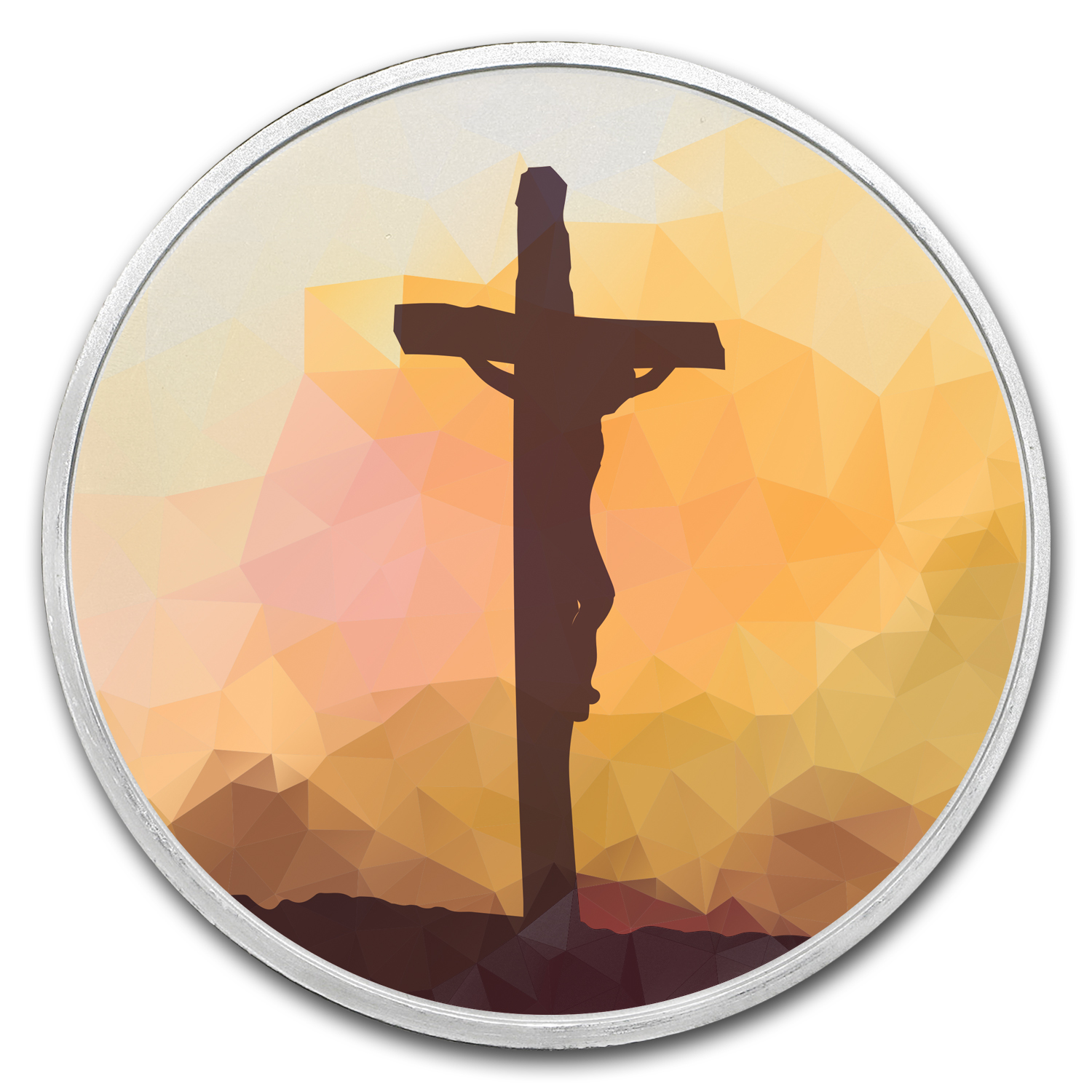 1 oz Silver Colorized Round - APMEX (Jesus on the Cross)