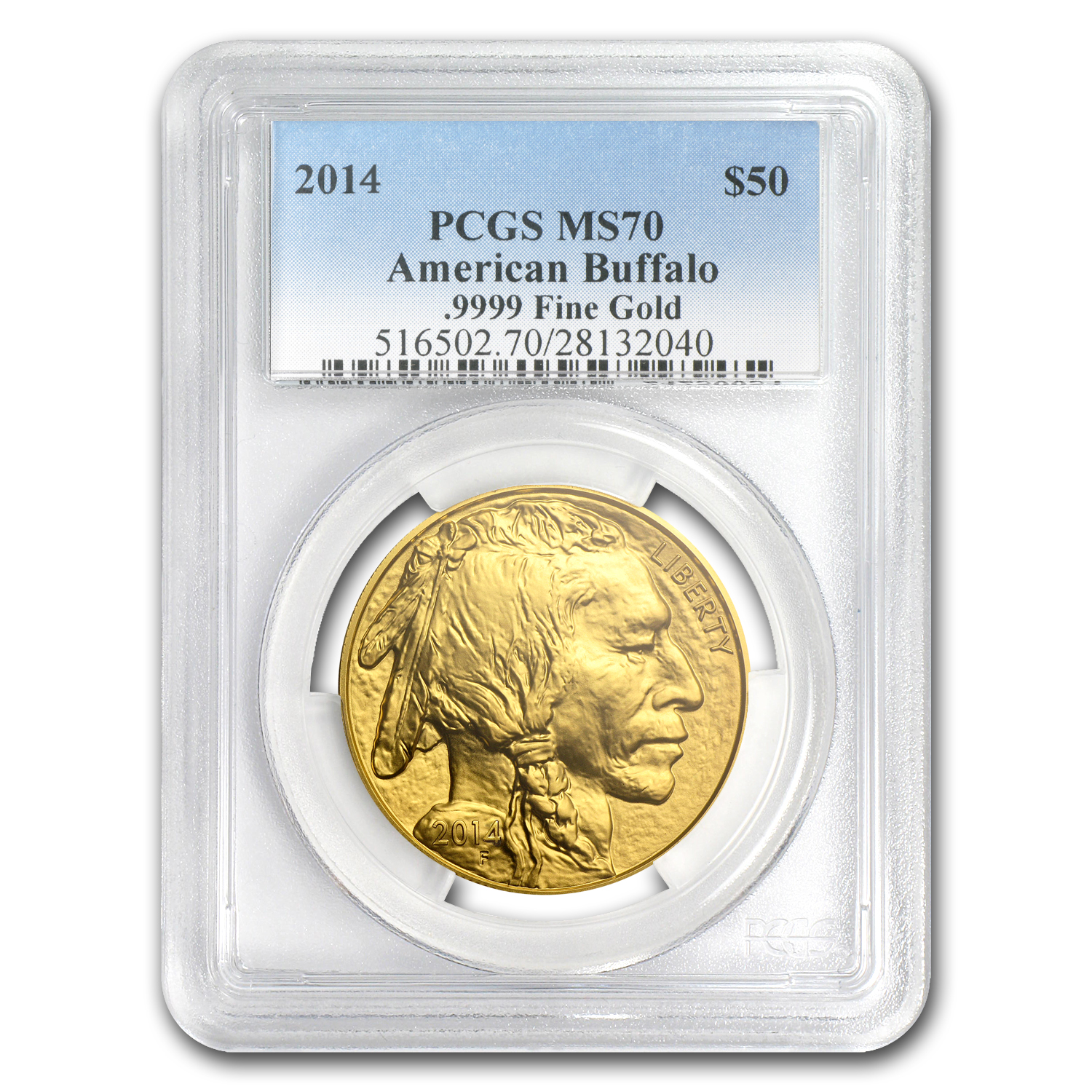 2014 1 oz Gold Buffalo MS-70 PCGS