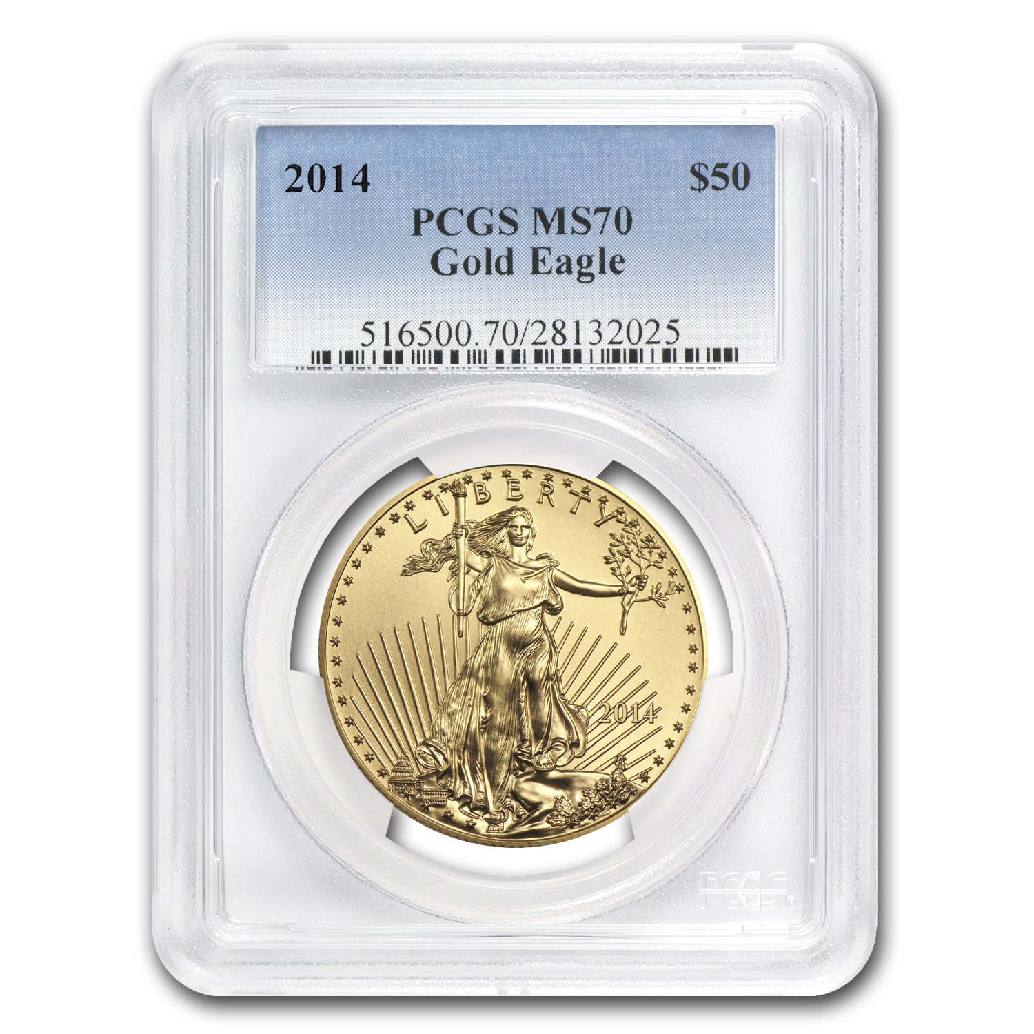 2014 1 oz Gold American Eagle MS-70 PCGS