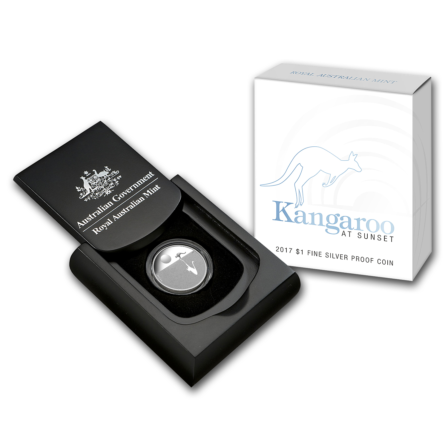 2017 Australia Silver $1 Kangaroo at Sunset