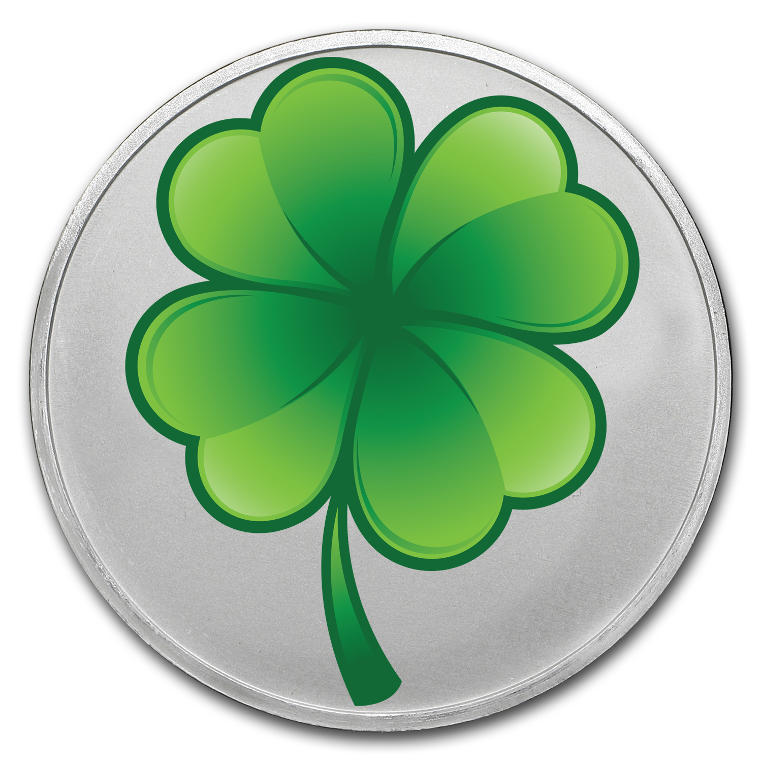 1 oz Silver Colorized Round - APMEX (4-Leaf Clover)