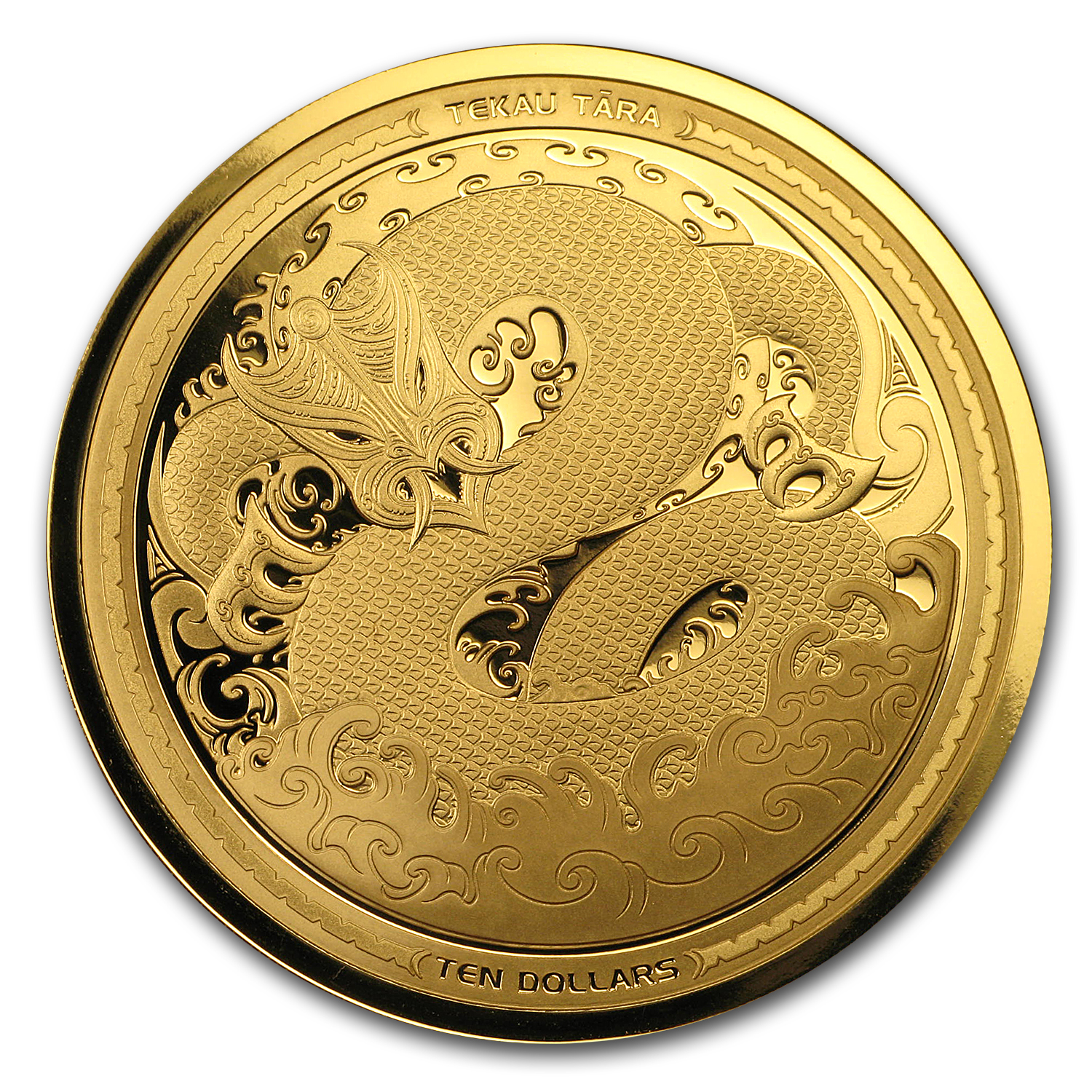 2017 New Zealand 1 oz Proof Gold $10 Taniwha
