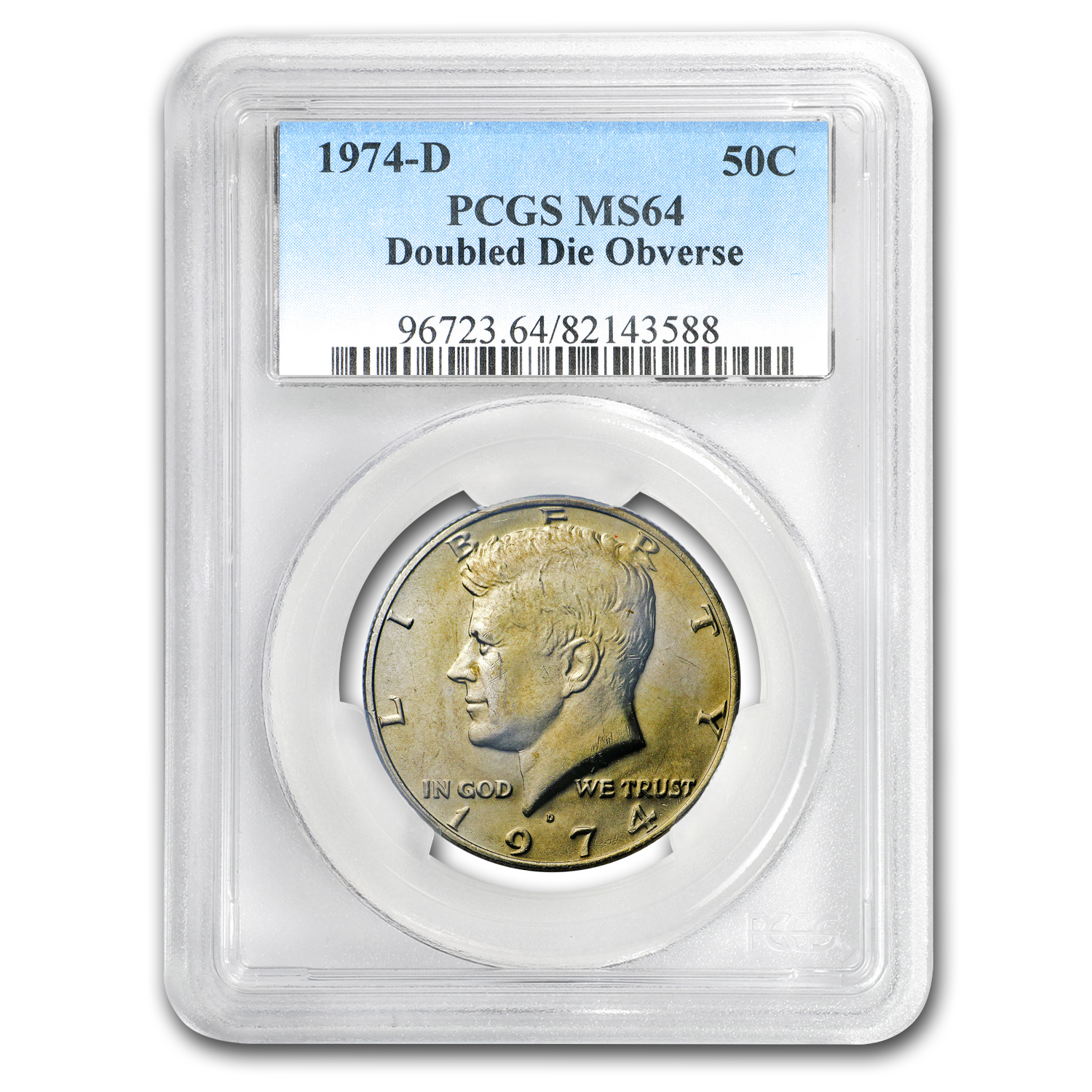 1974-D Kennedy Half Dollar Doubled Die MS-64 PCGS