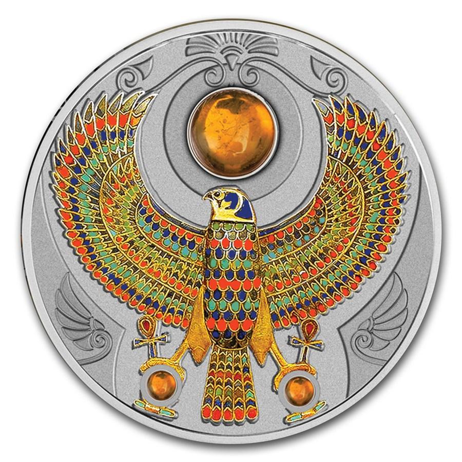 2017 Niue Silver 2 Oz Falcon Of Tutankhamun Silver