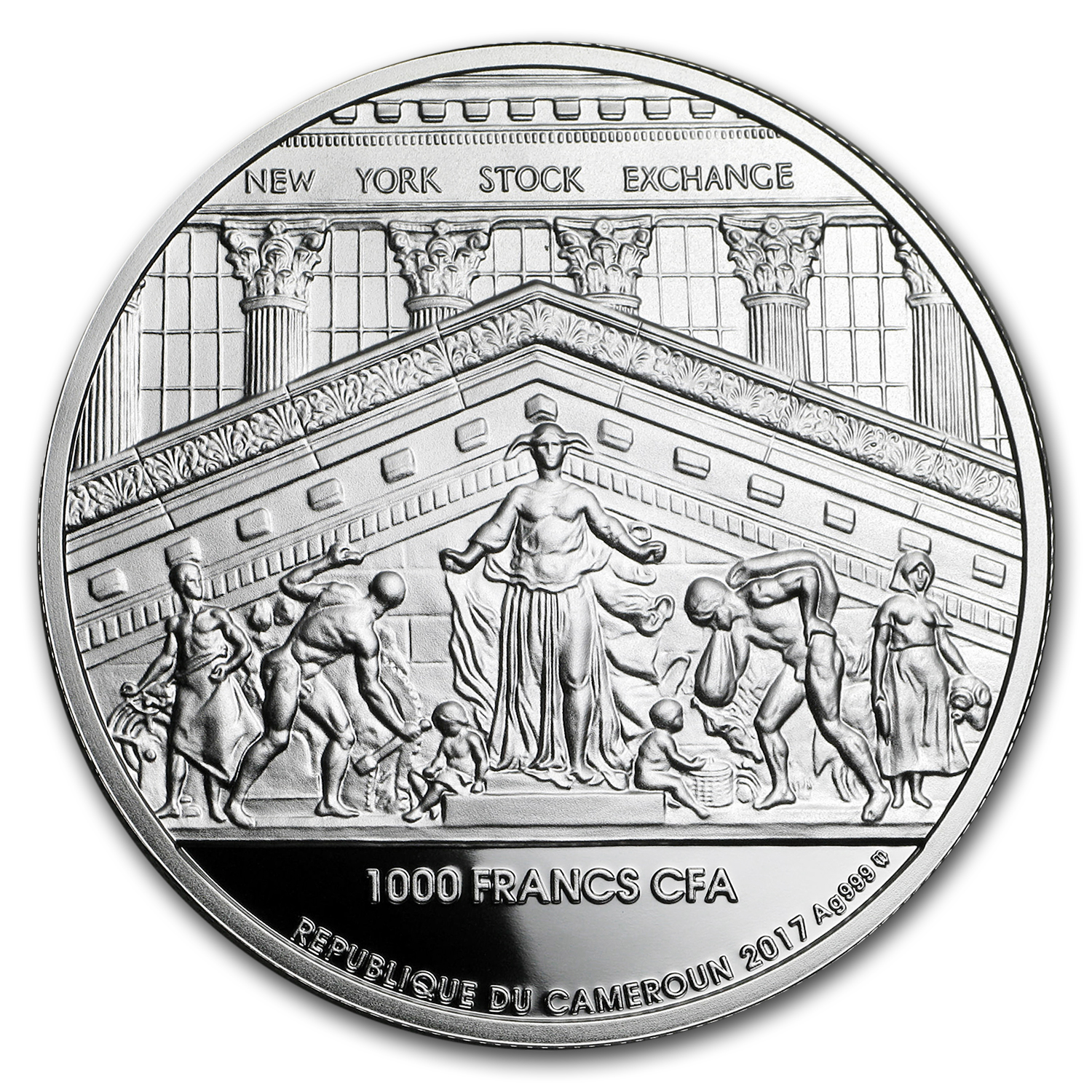 2017 Cameroon 1 oz Silver 200th Anniversary of NY Stock Exchange