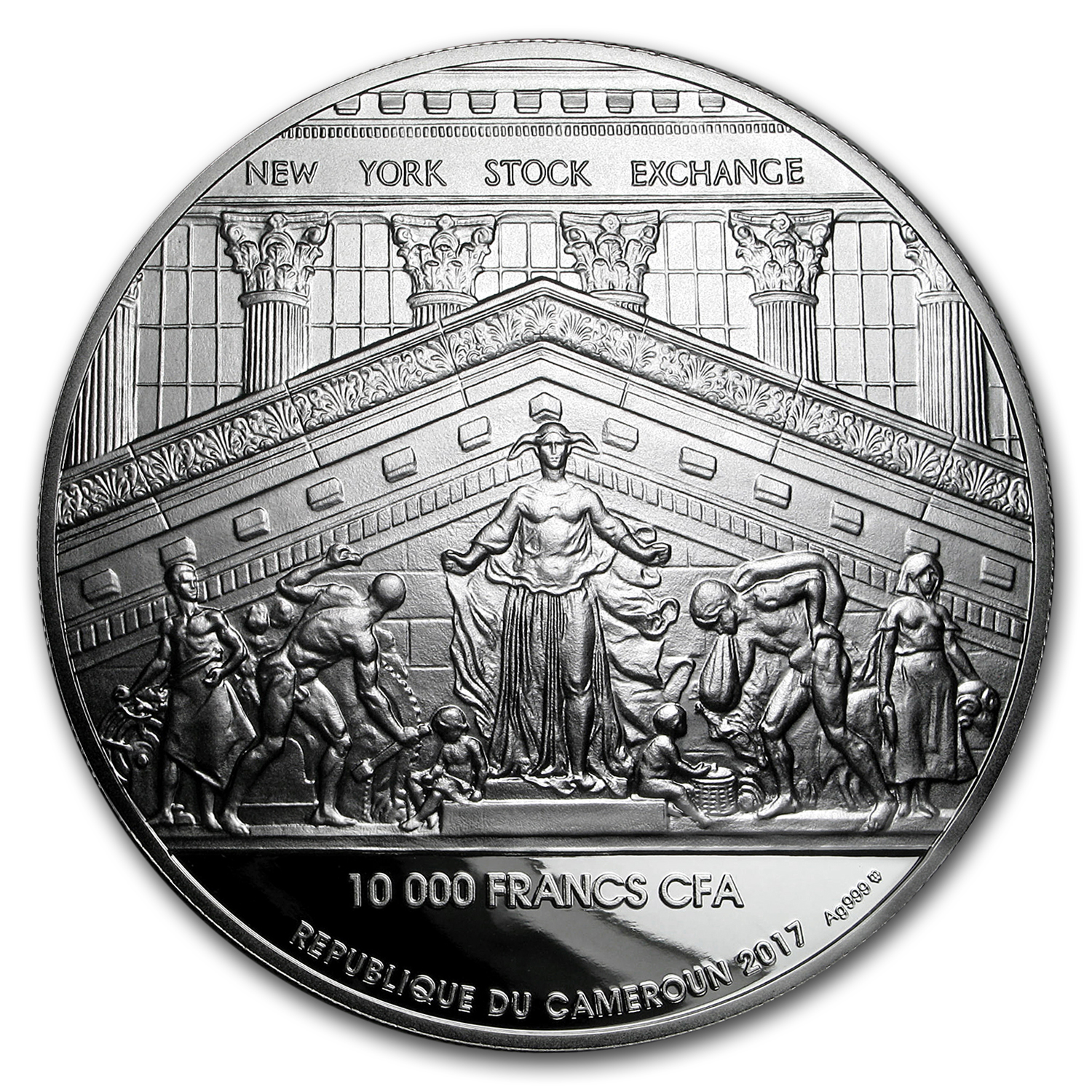 2017 Cameroon 8 oz Silver 200th Anniversary of NY Stock Exchange
