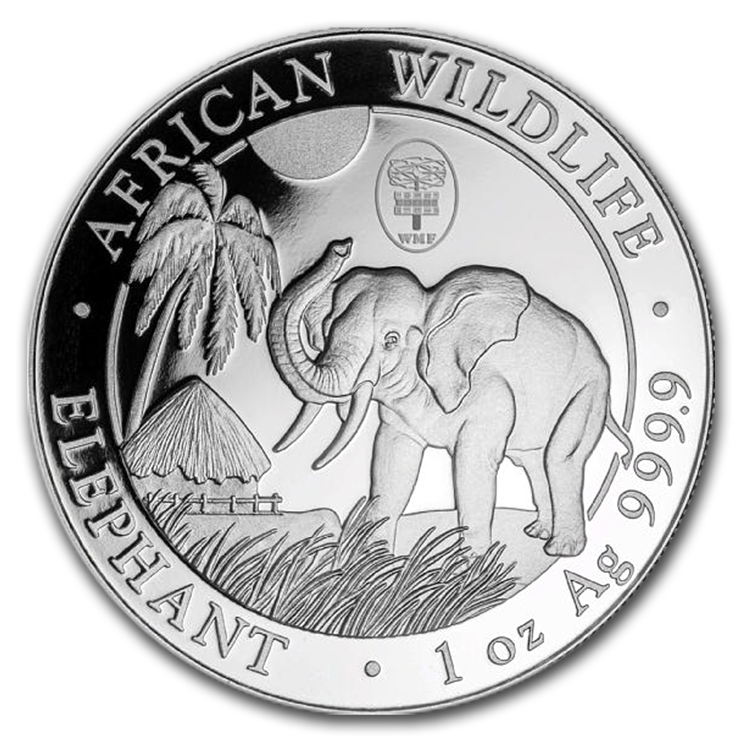 2017 Somalia 1 oz Silver Elephant (Berlin WMF Privy Mark)