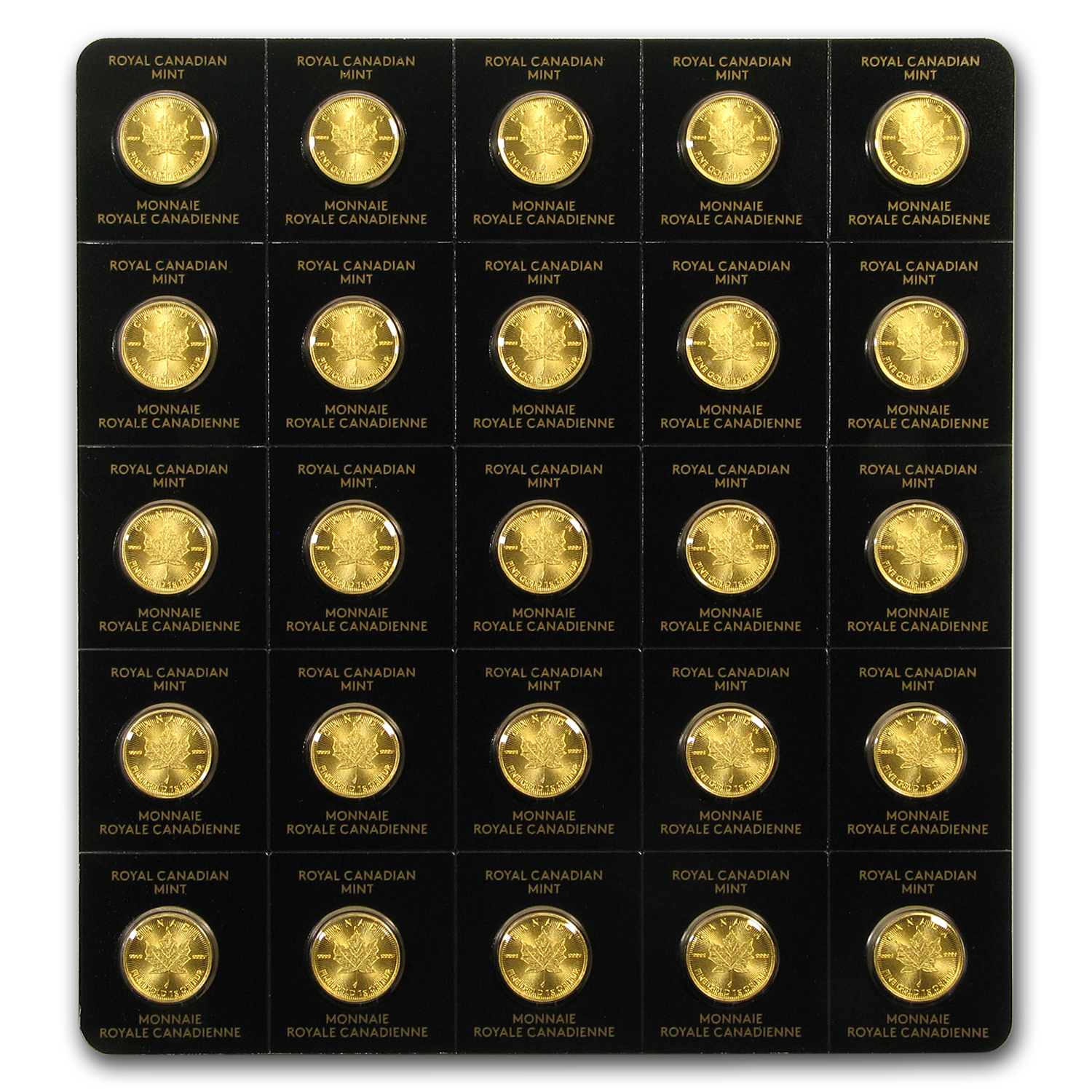 2017 25x 1 gram Gold Maple Leafs - Maplegram25™ (In Assay Sleeve)