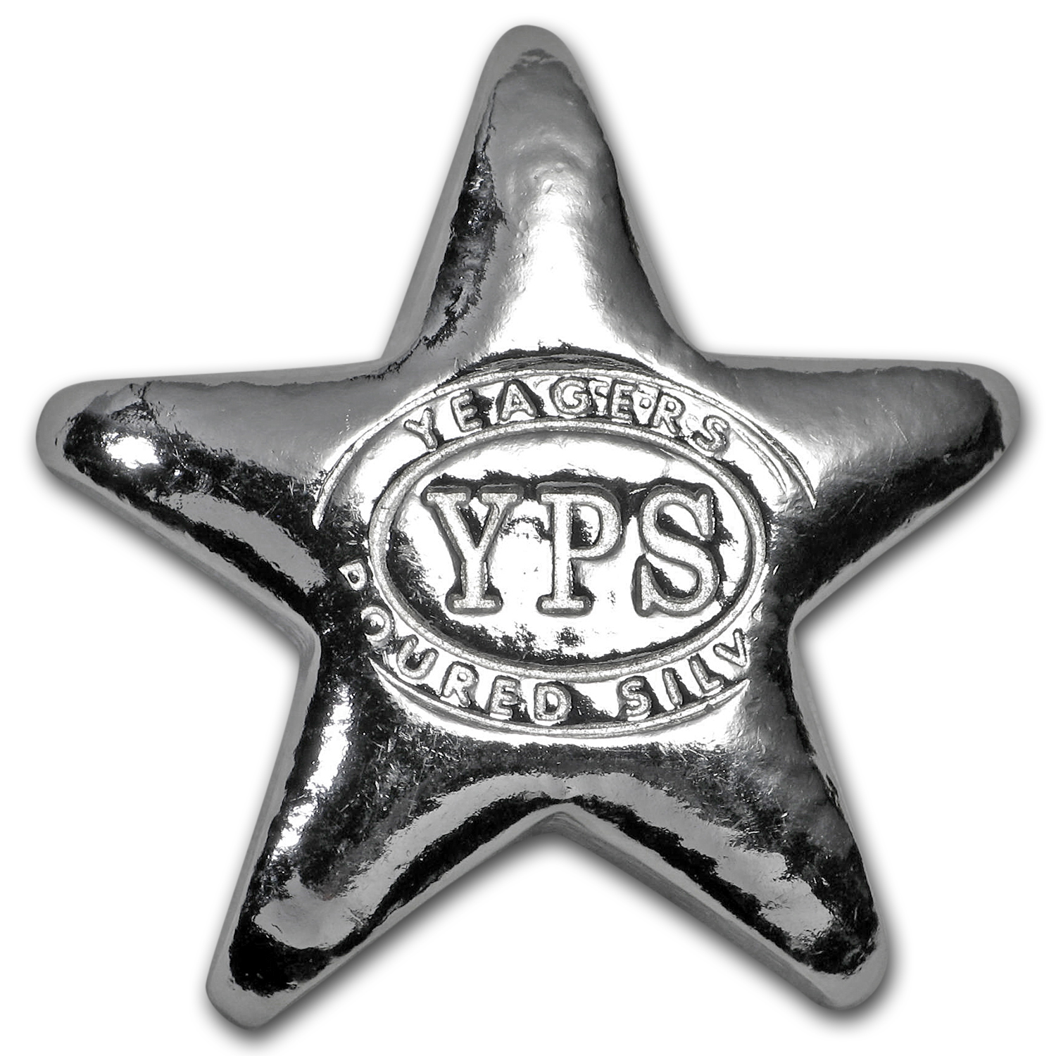 1/2 oz Silver Star - Yeager Poured Silver