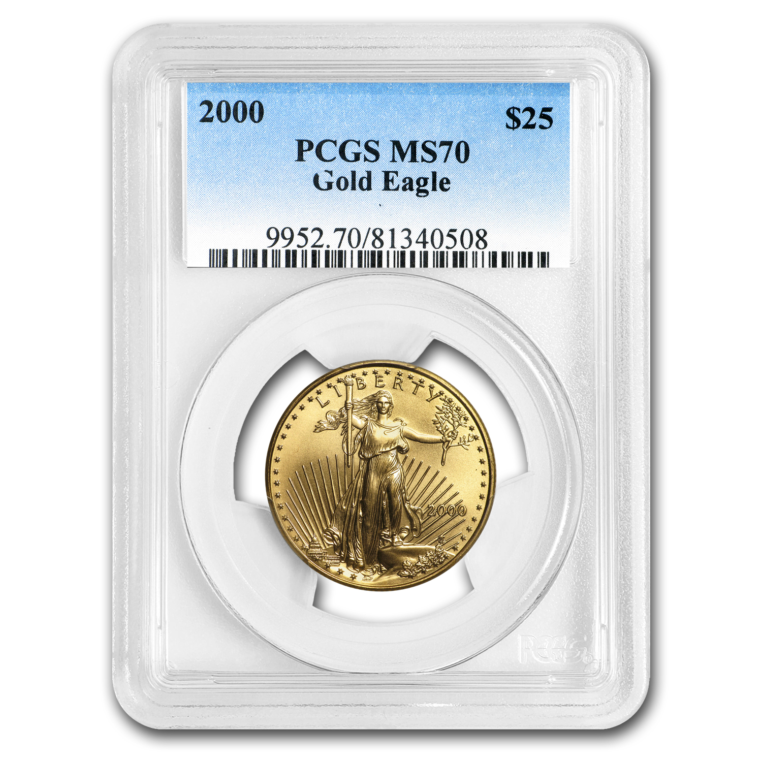 2000 1/2 oz Gold American Eagle MS-70 PCGS