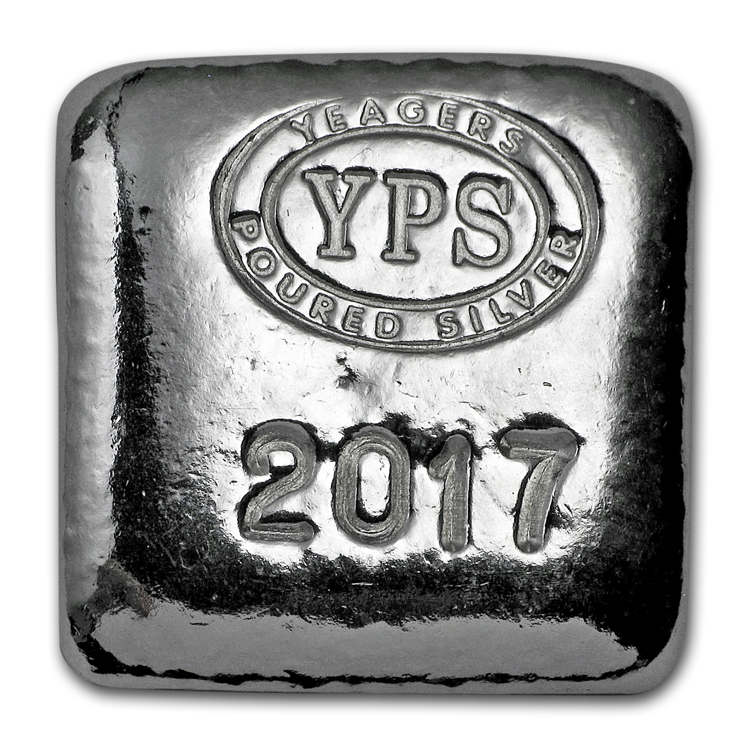 1 oz Silver Square - Yeager Poured Silver (2017 Edition)
