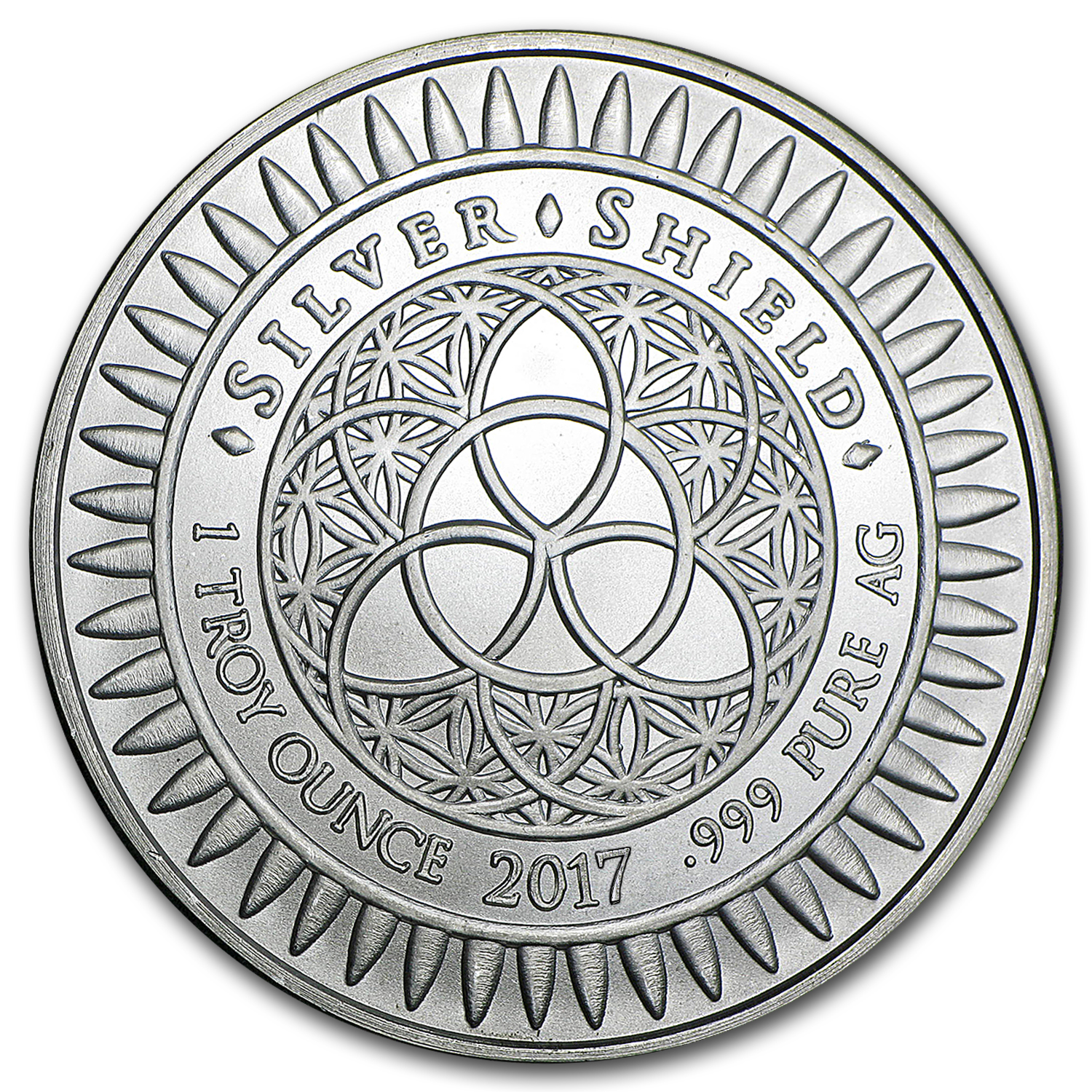 2017 1 oz Silver Shield Round - Cannabis