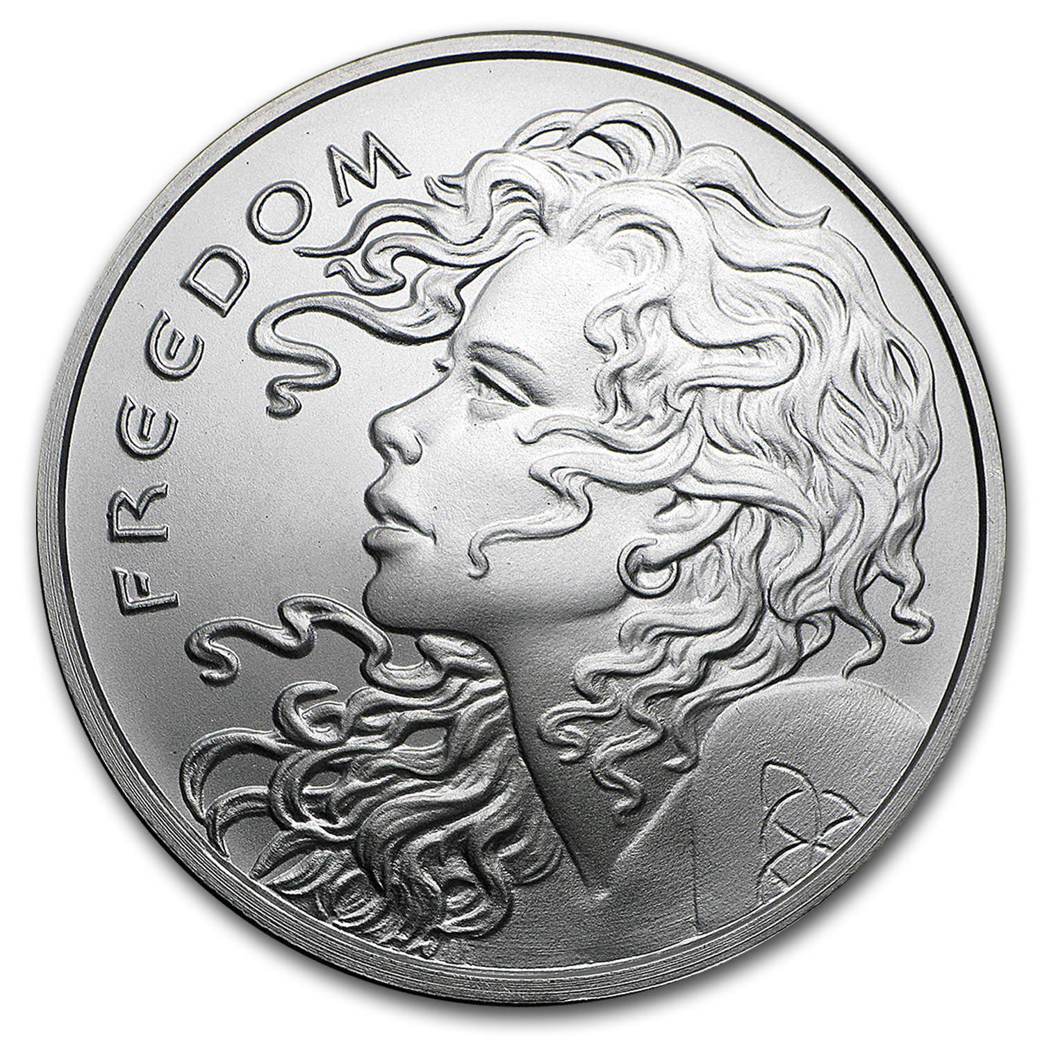 2017 1 oz Silver Shield Round - Freedom Girl