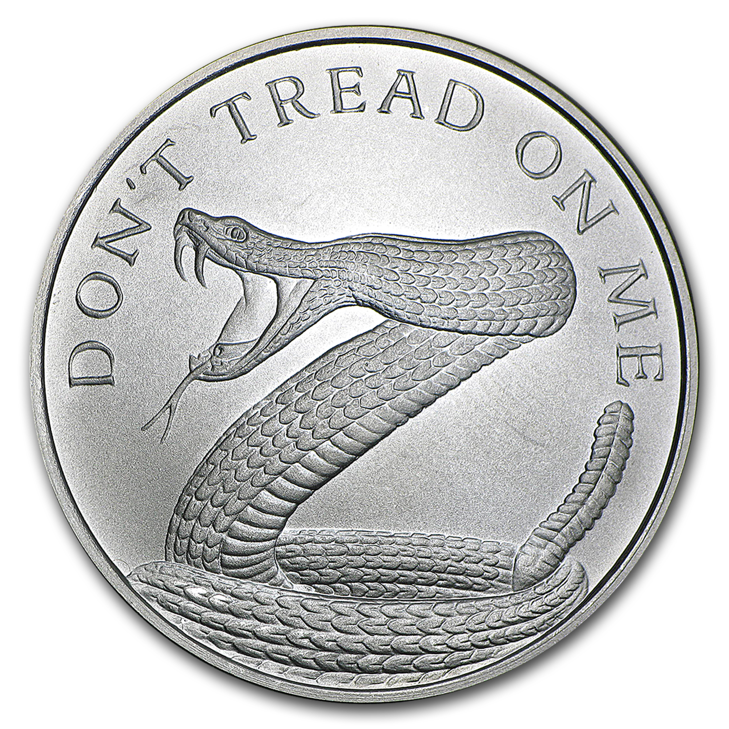 2017 1 oz Silver Shield Round - Don't Tread On Me Snake