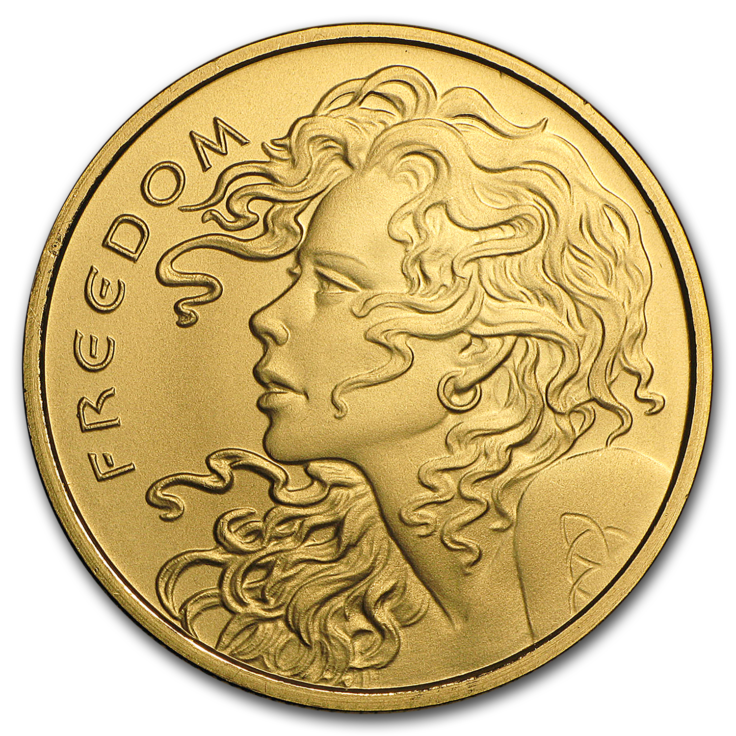 2017 1 oz Gold Round - Freedom Girl (w/Box & COA)