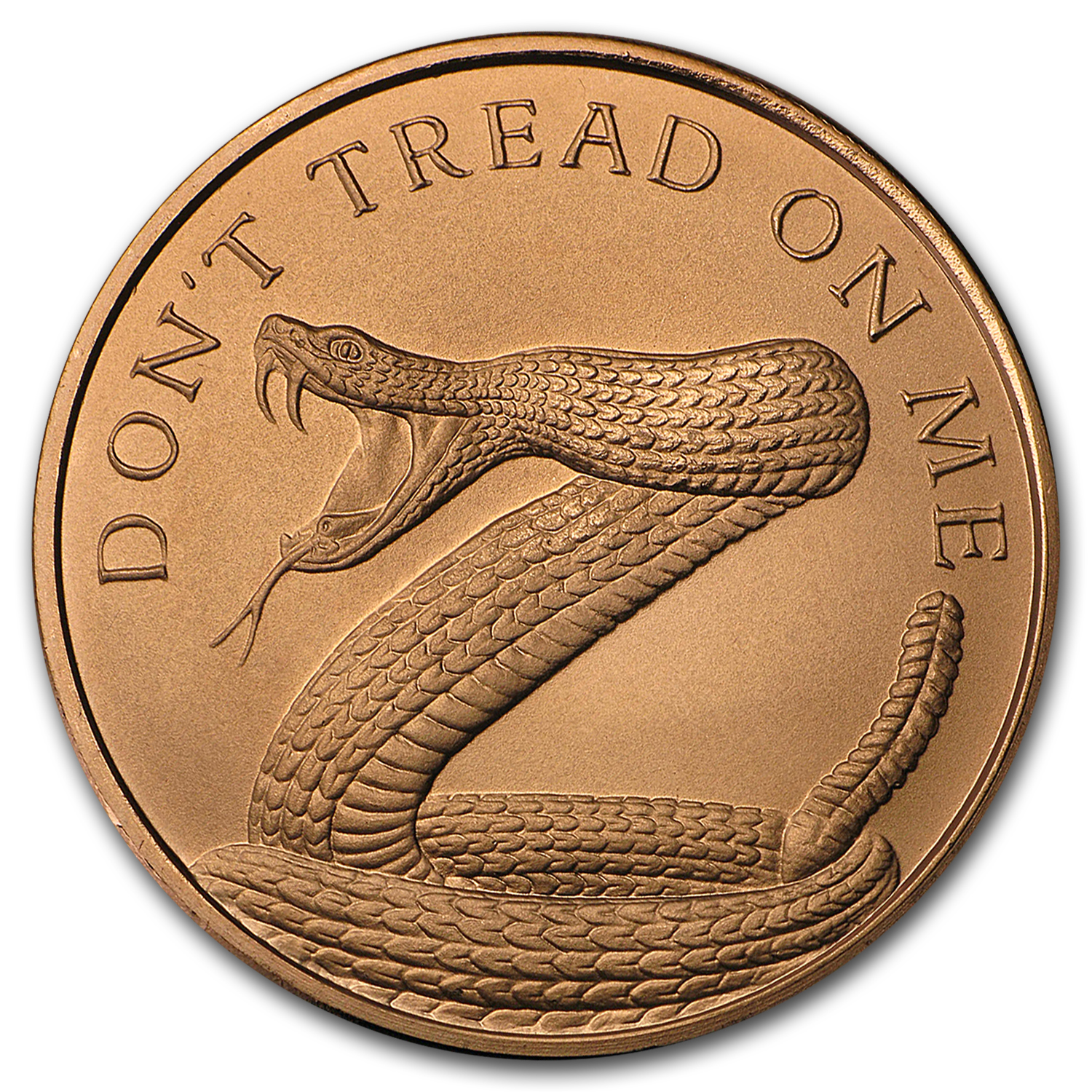 2017 1 oz Copper Round - Don't Tread on Me