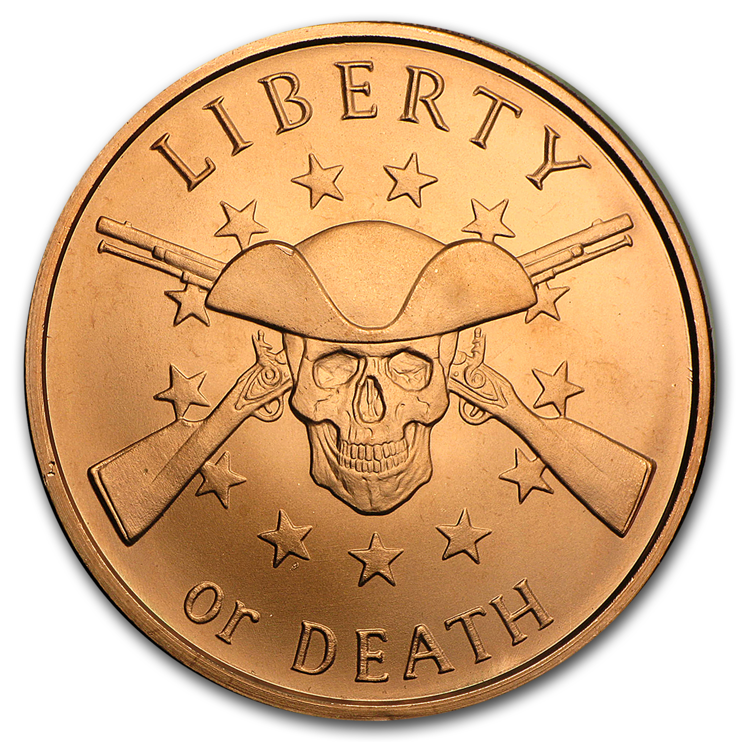 2017 1 oz Copper Round - Liberty or Death