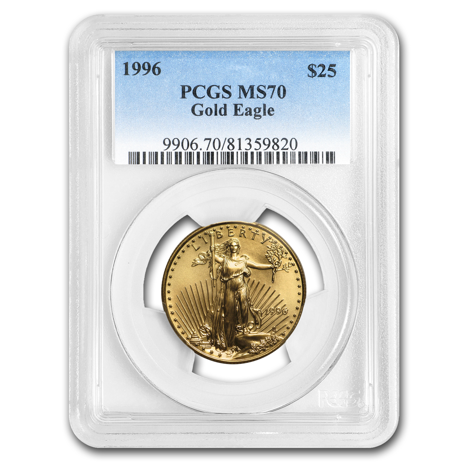 1996 1/2 oz Gold American Eagle MS-70 PCGS