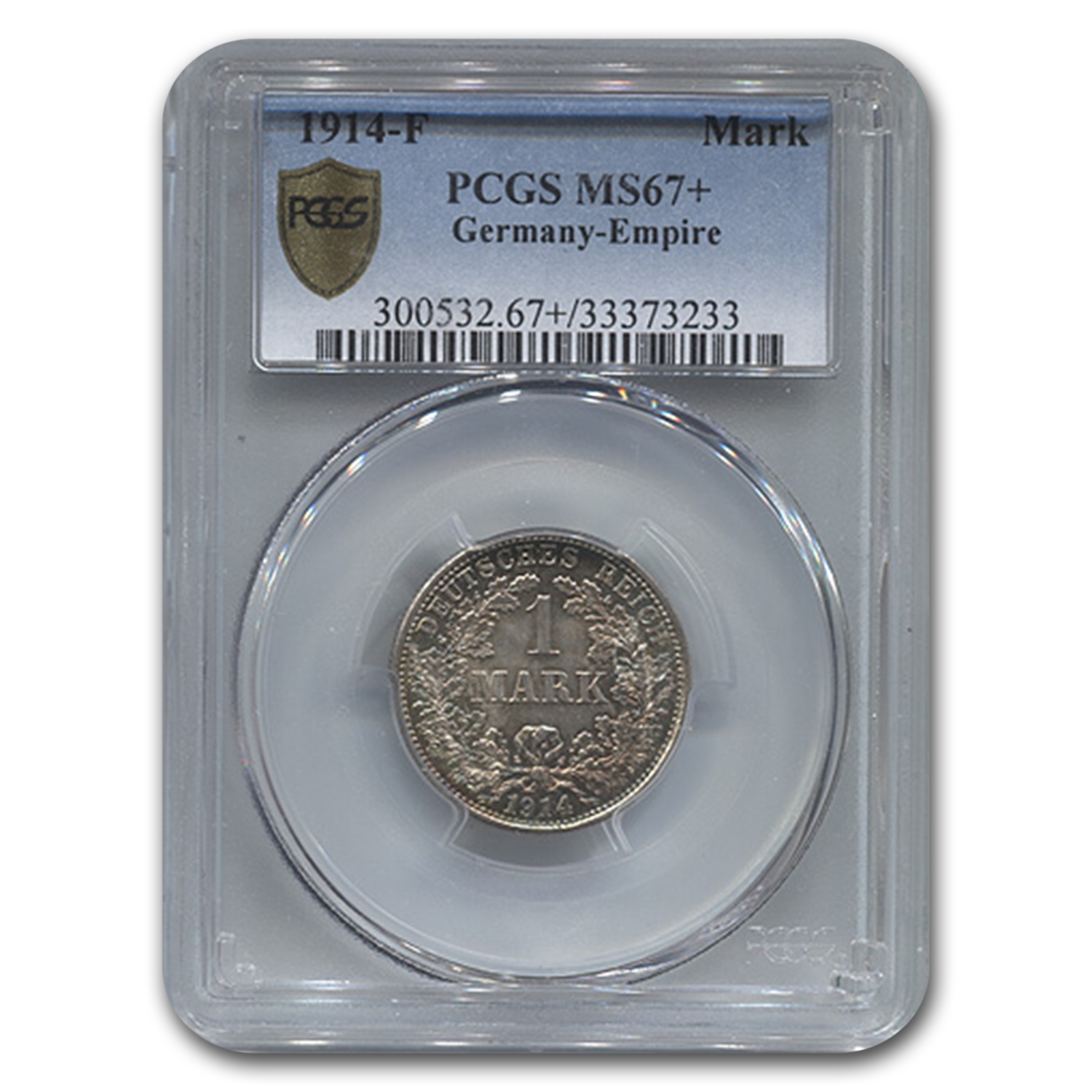 1914-F Germany Silver 1 Mark MS-67+ PCGS