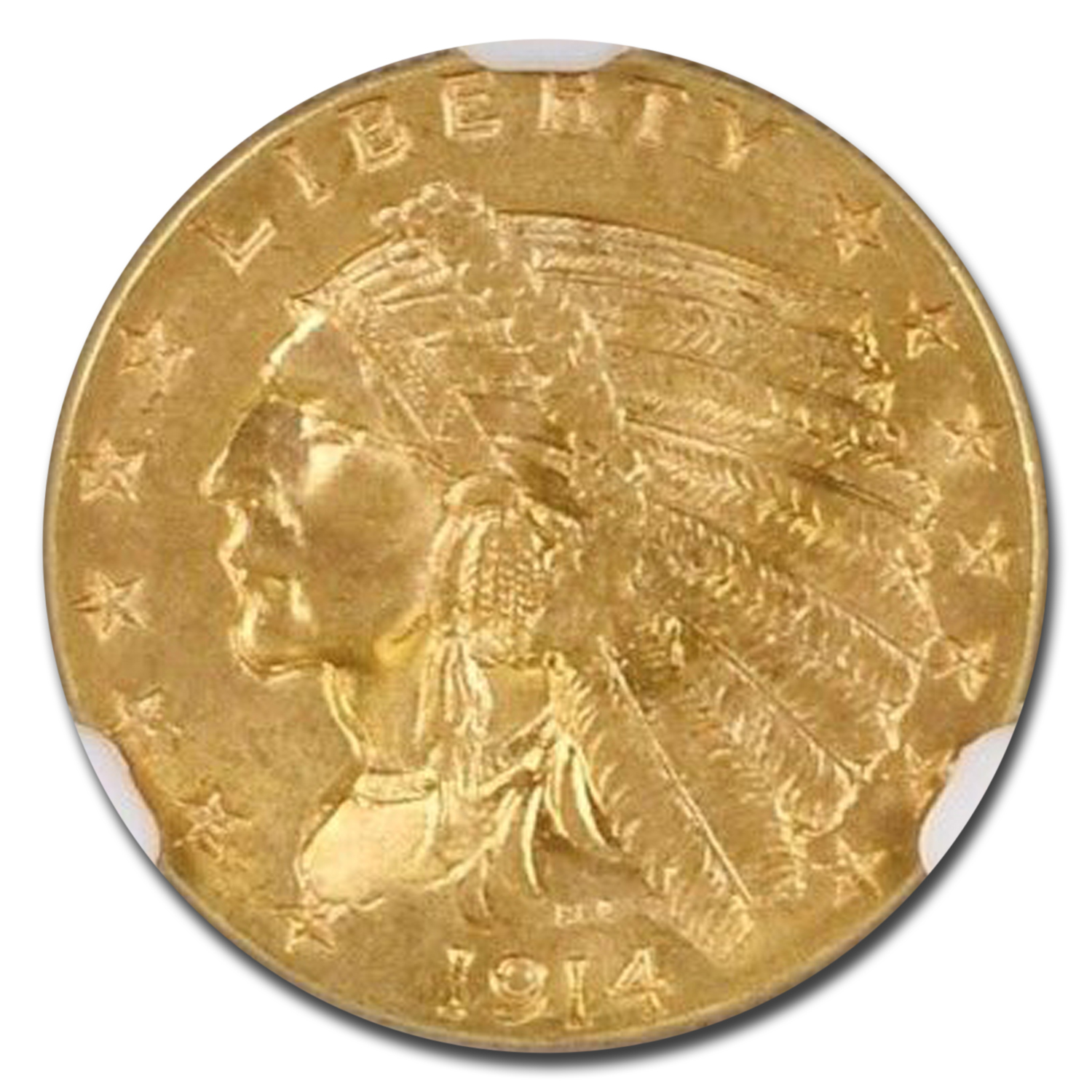1914 $2.50 Indian Gold Quarter Eagle MS-65 NGC