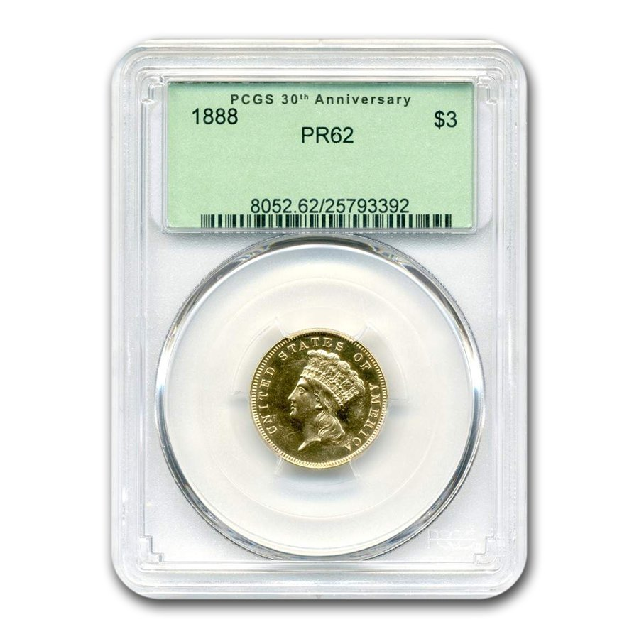 1888 Gold $3 Princess PR-62 PCGS