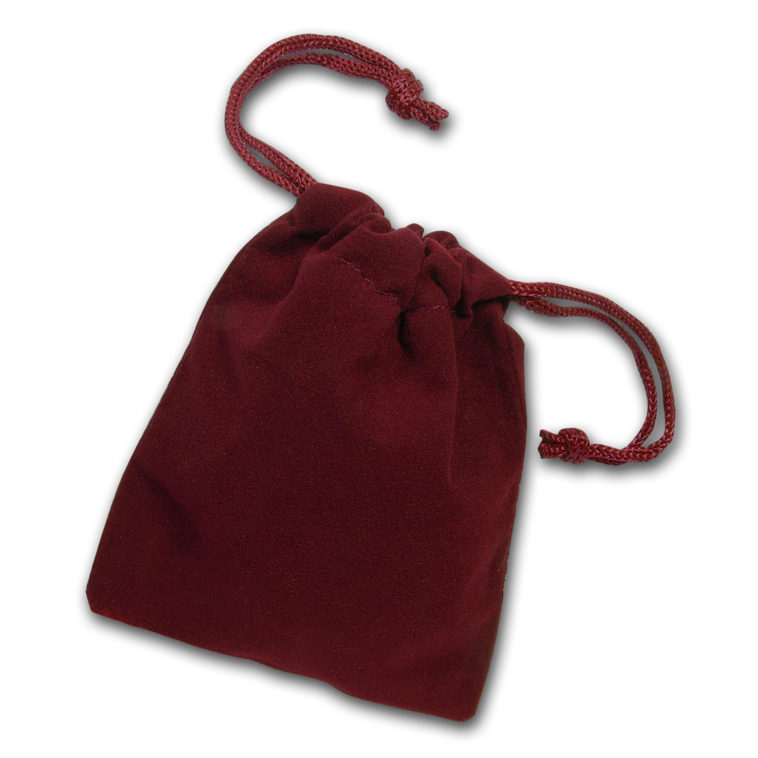 3 x 4 Velour Draw String Pouch (Burgundy)
