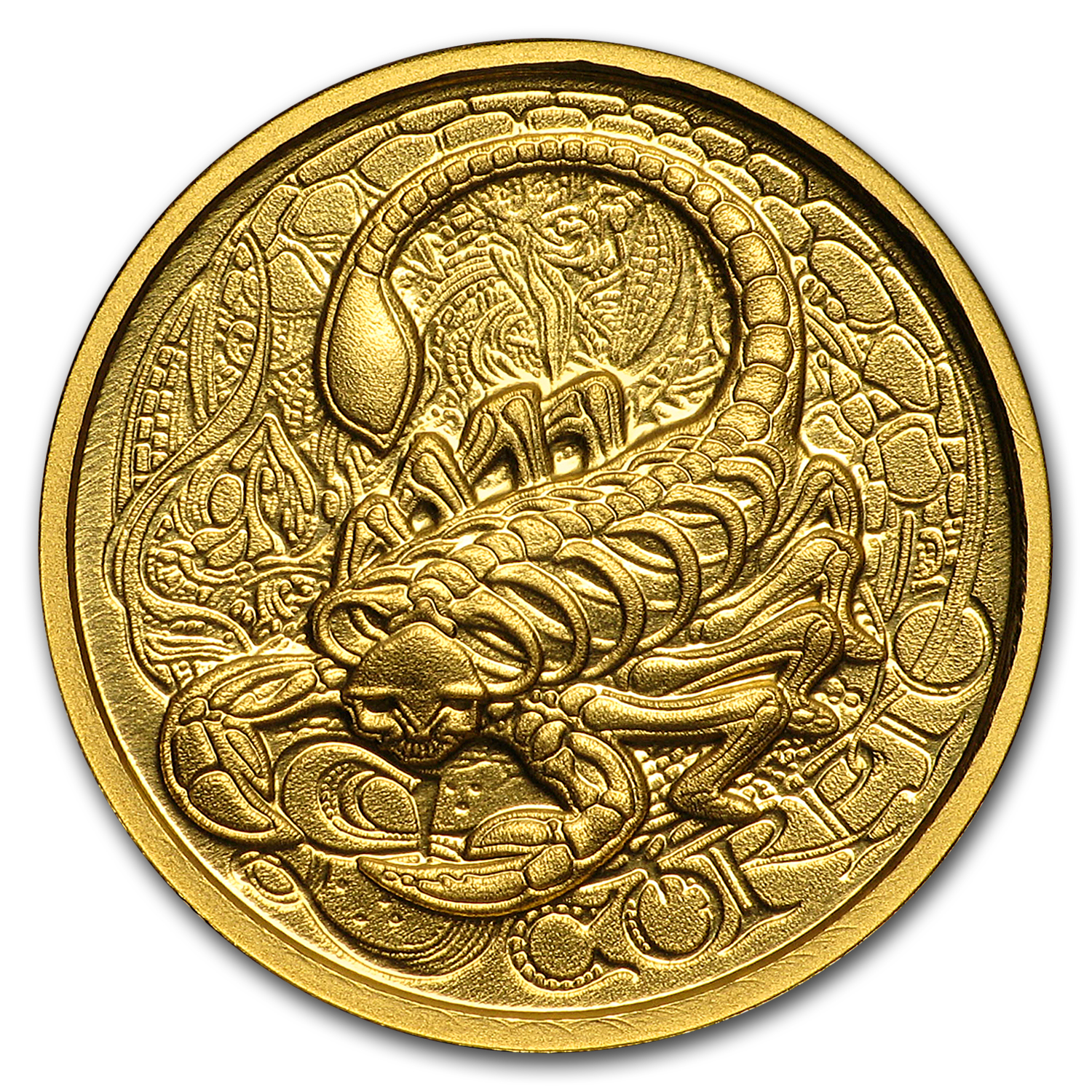1/10 oz Gold Proof Round - Zodiac Skull Series (Scorpio)