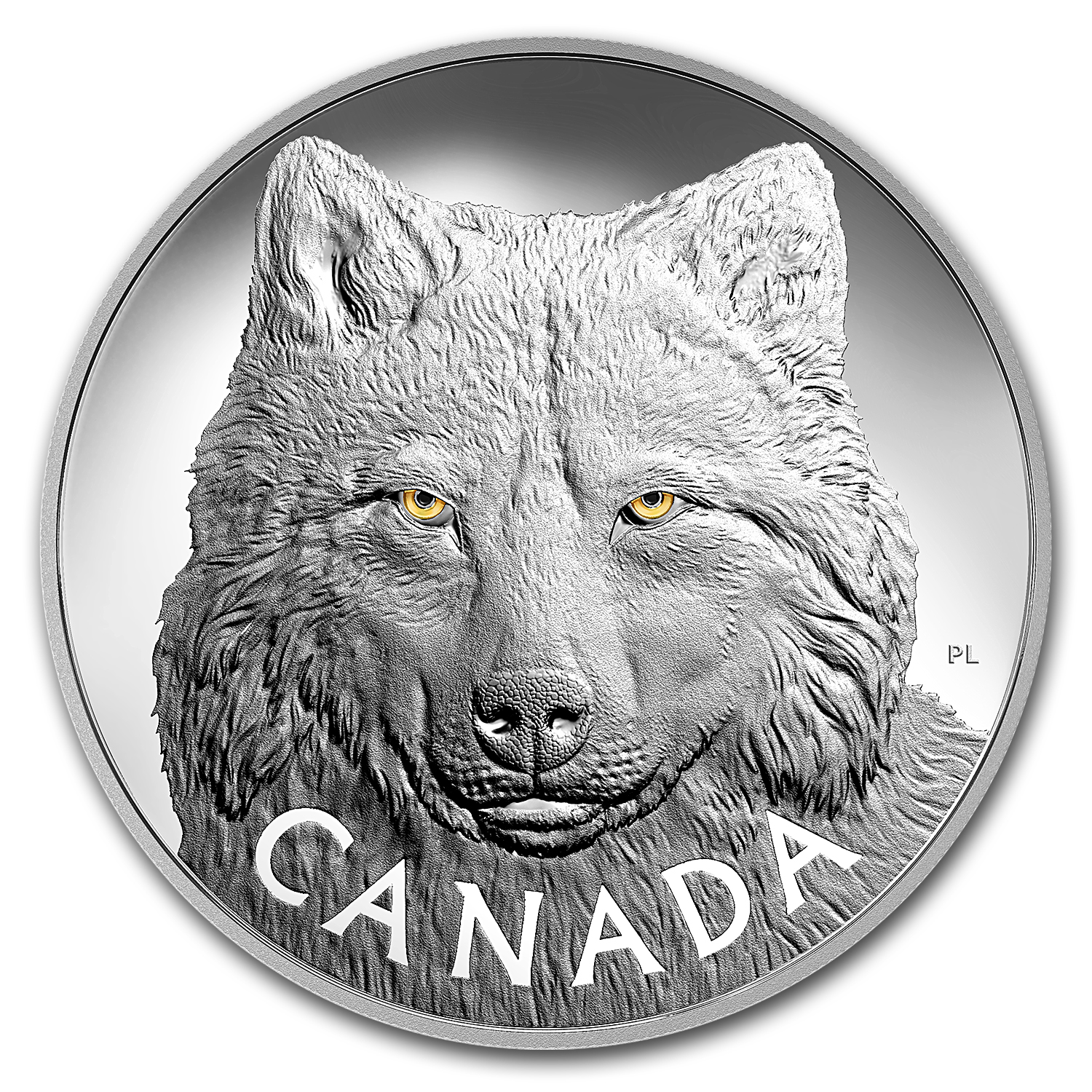 2017 Canada 1 kilo Silver $250 In the Eyes of the Timber Wolf