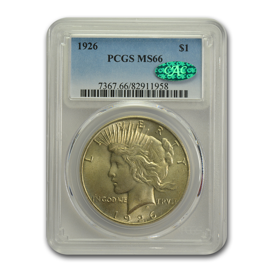 1926 Peace Dollar MS-66 PCGS
