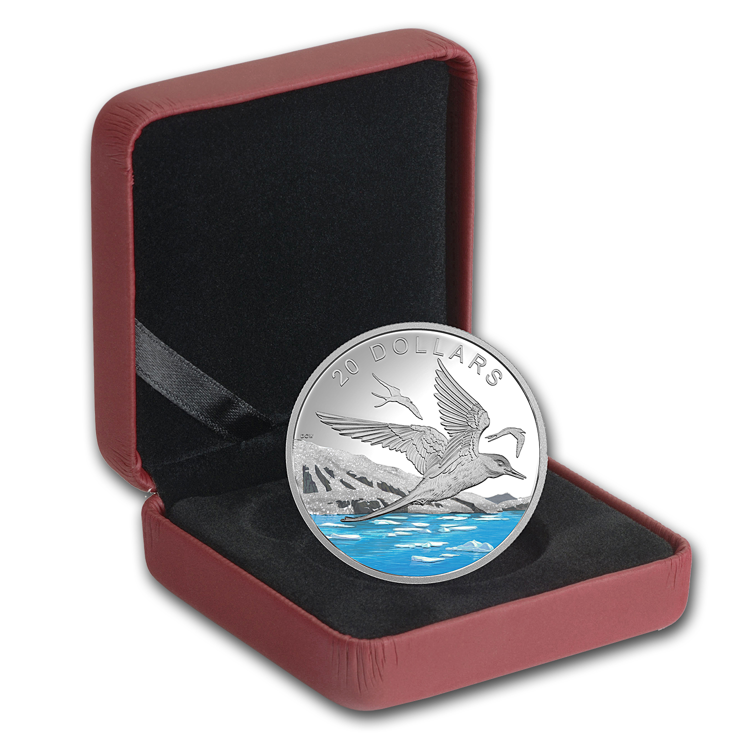 2017 1 oz Silver Proof $20 Glistening North: The Arctic Tern