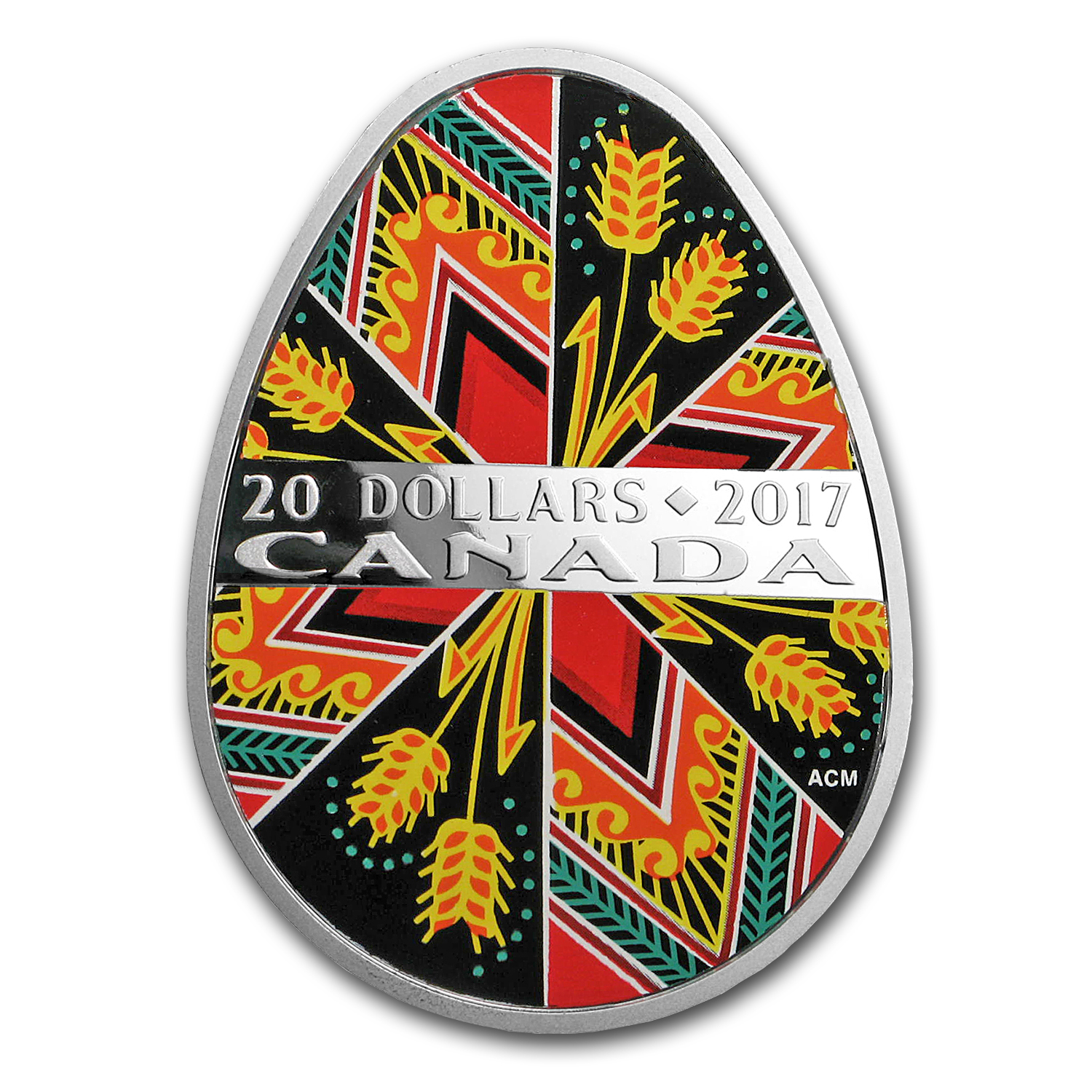 2017 Canada 1 oz Silver $20 Traditional Ukrainian Pysanka