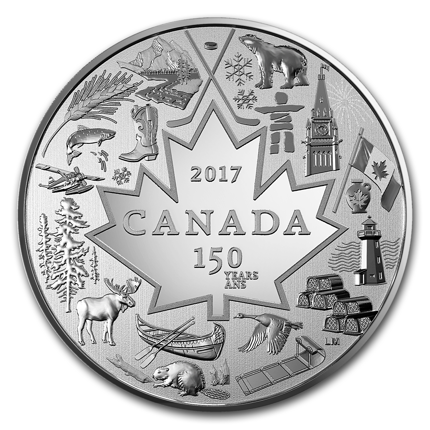 2017 Canada 1/4 oz Proof Silver $3 Heart of Our Nation