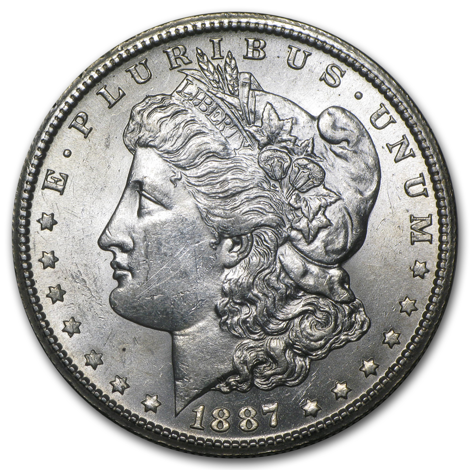 1887-S Morgan Dollar AU-58