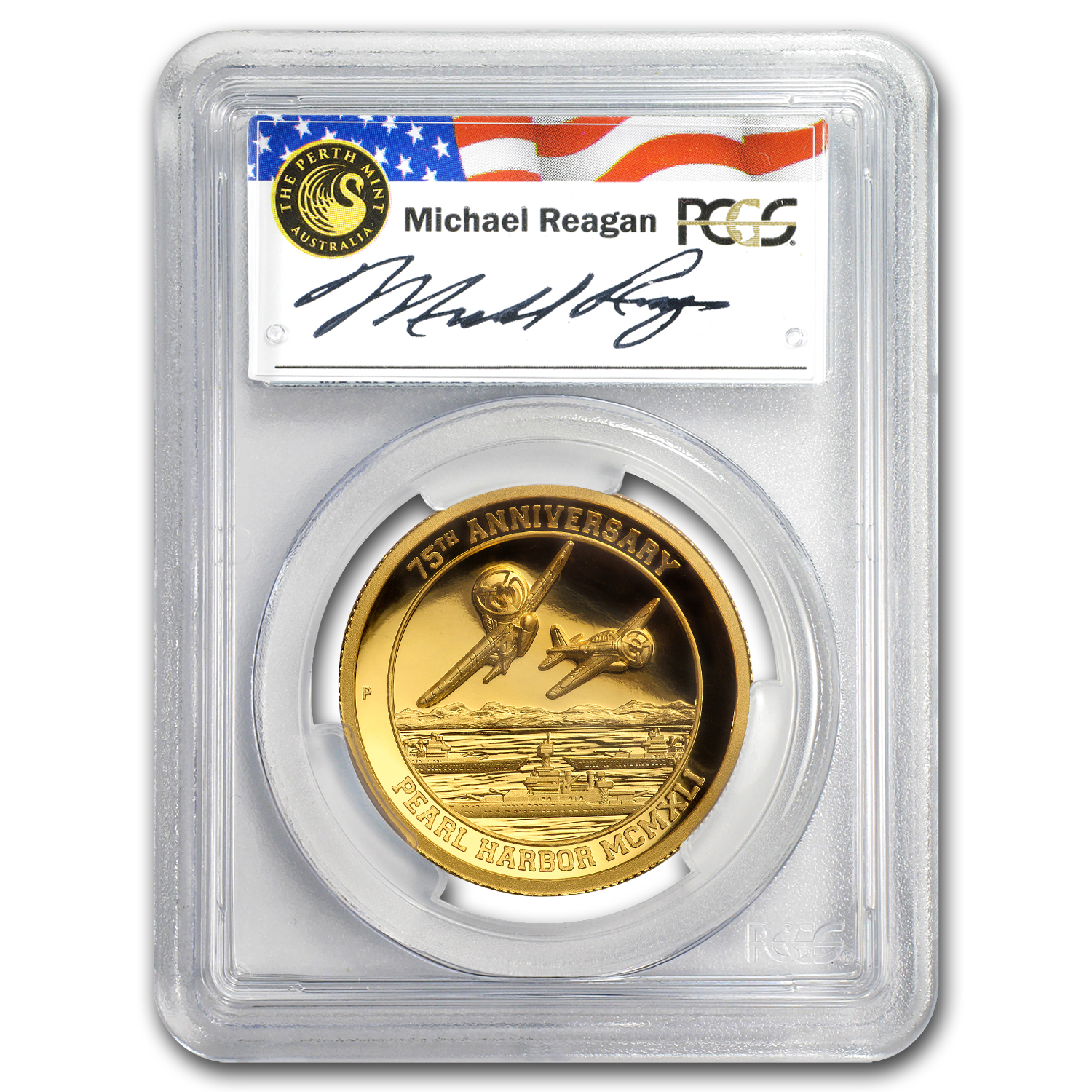 2016 Tuvalu 1 oz Gold Pearl Harbor PR-70 PCGS (High Relief)