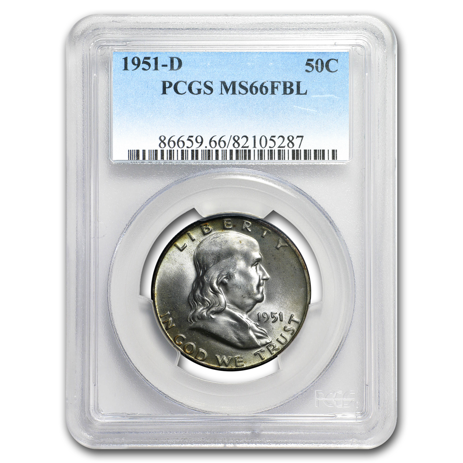 1951-D Franklin Half Dollar MS-66 PCGS (FBL)