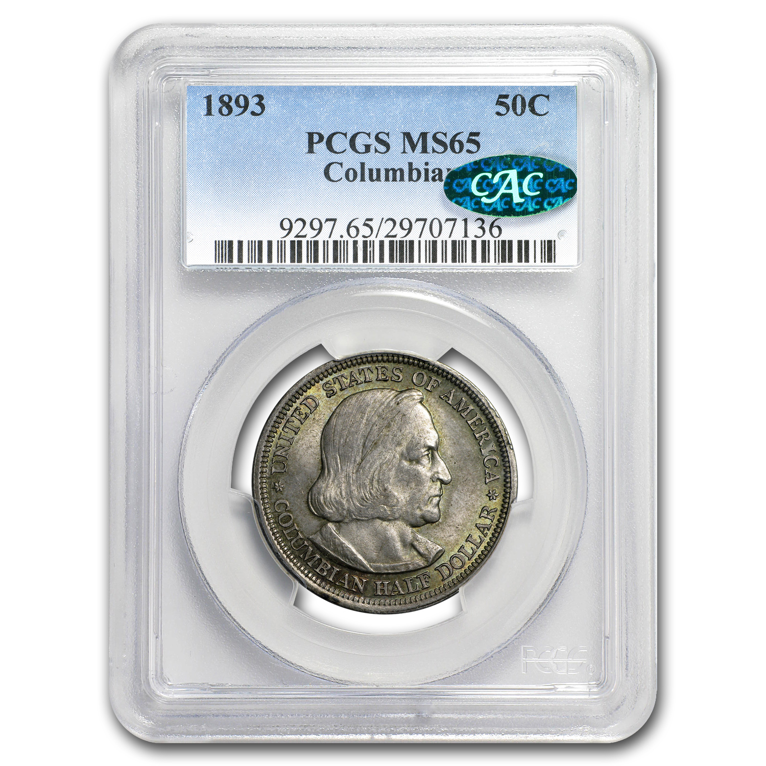 1893 Columbian Expo Half Dollar MS-65 PCGS CAC