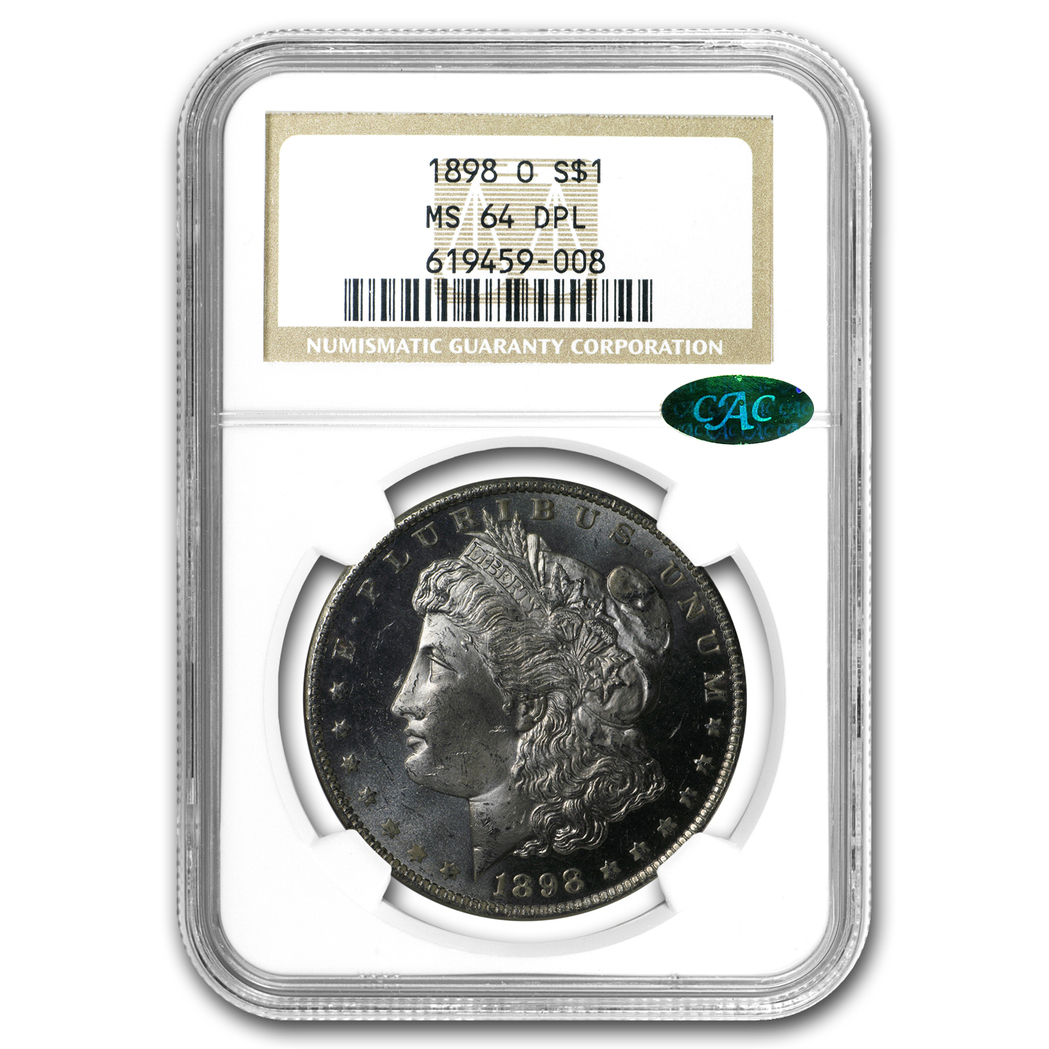 1898-O Morgan Dollar MS-64 DPL NGC CAC