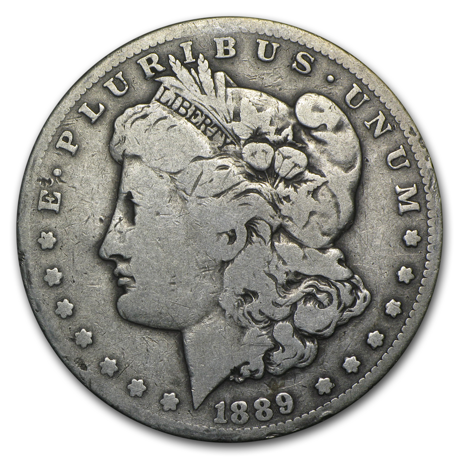 1889-CC Morgan Dollar Fine