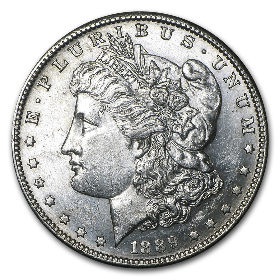 1889 S Morgan Dollar Bu Value Of Silver