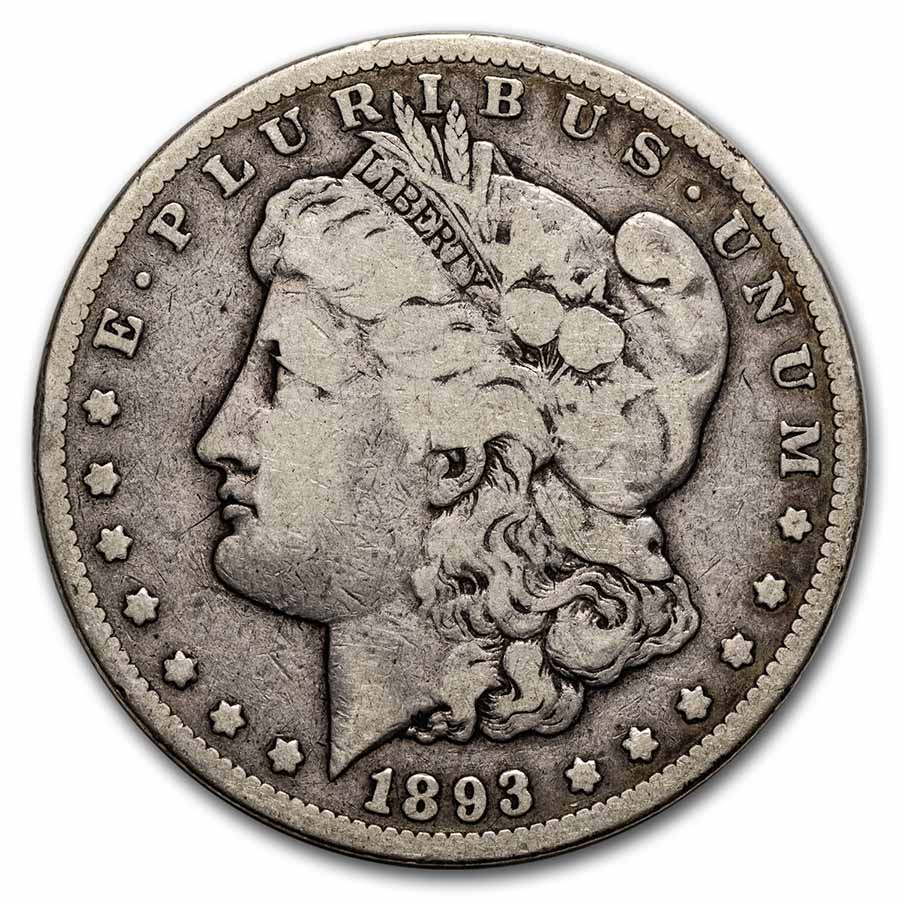 1893-CC Morgan Dollar Good