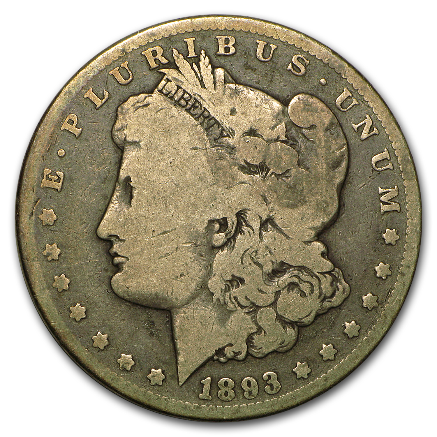 1893-CC Morgan Dollar VG