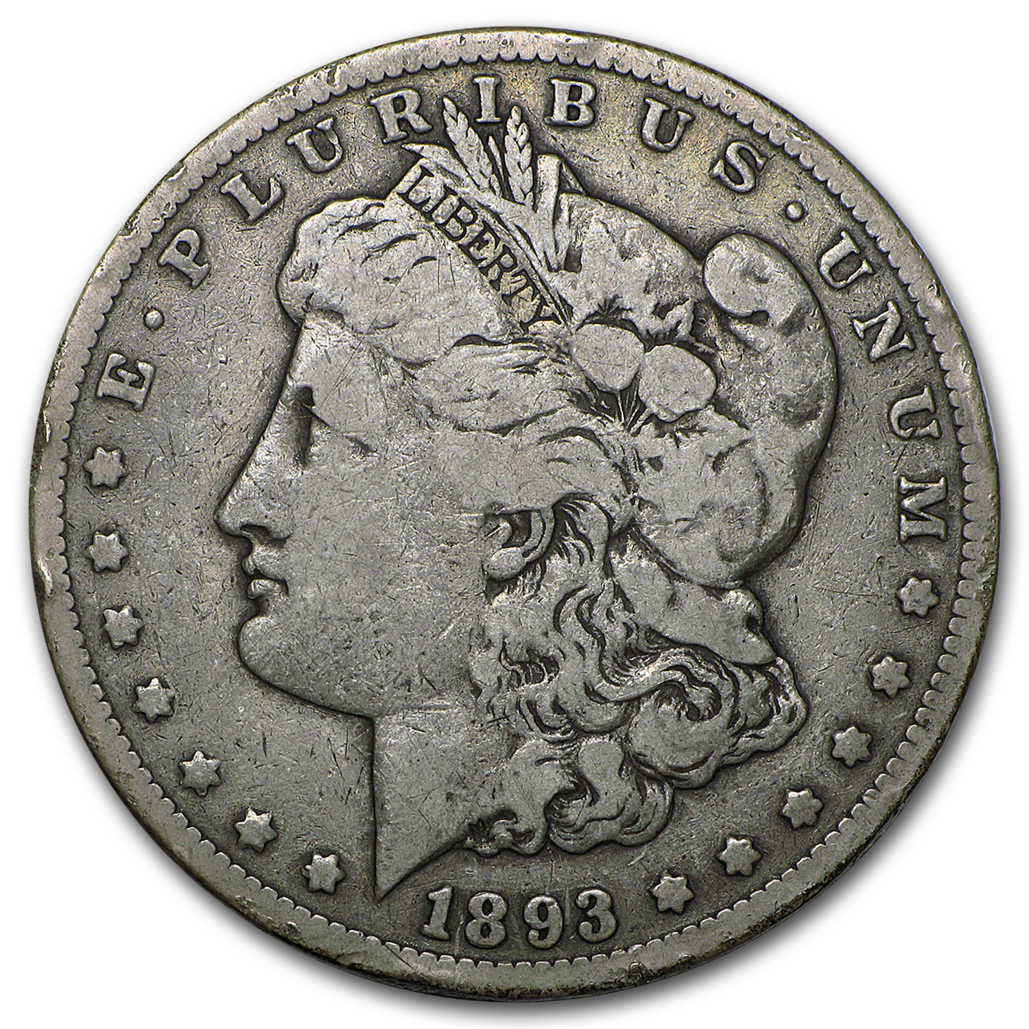 1893-CC Morgan Dollar Fine