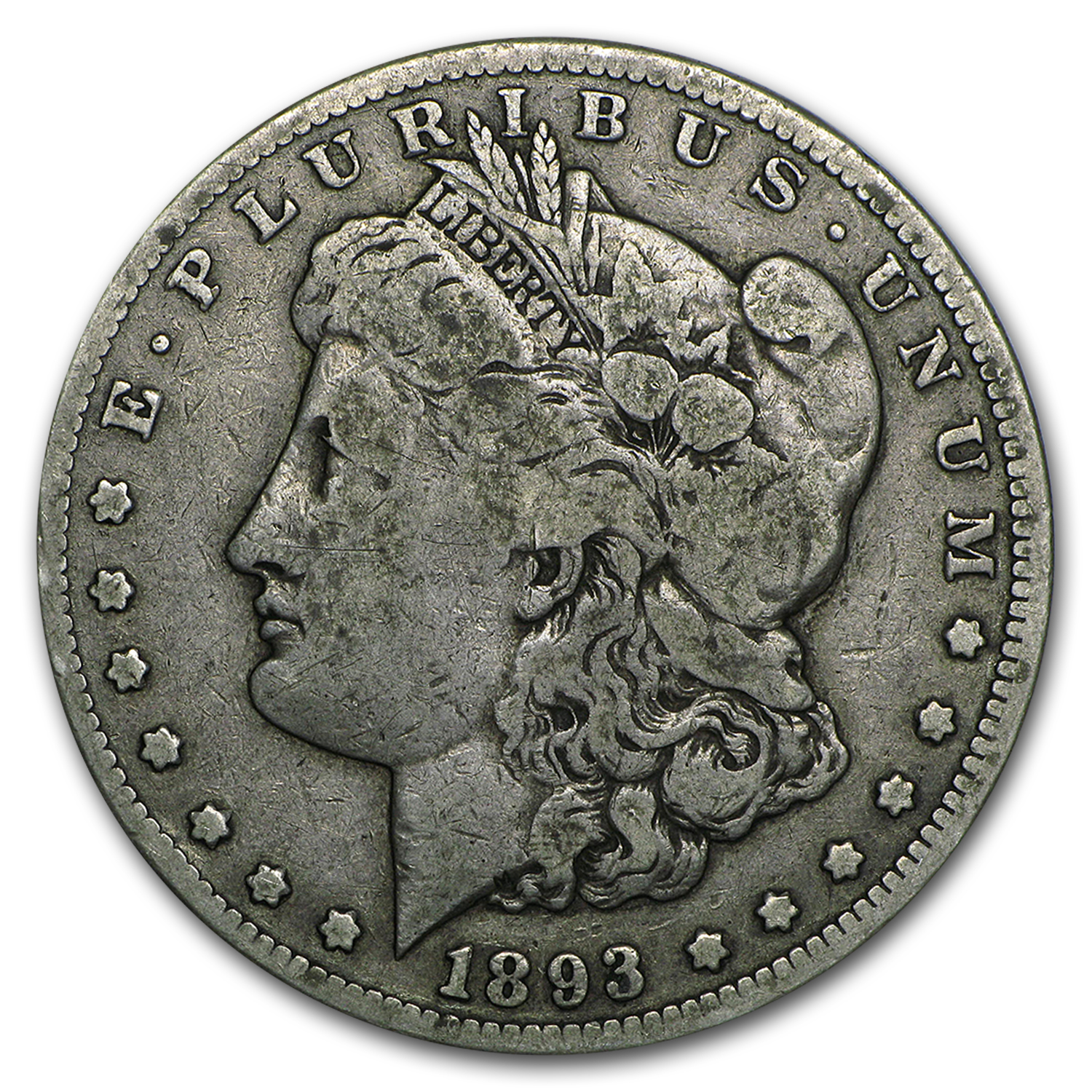 1893-CC Morgan Dollar - Very Fine